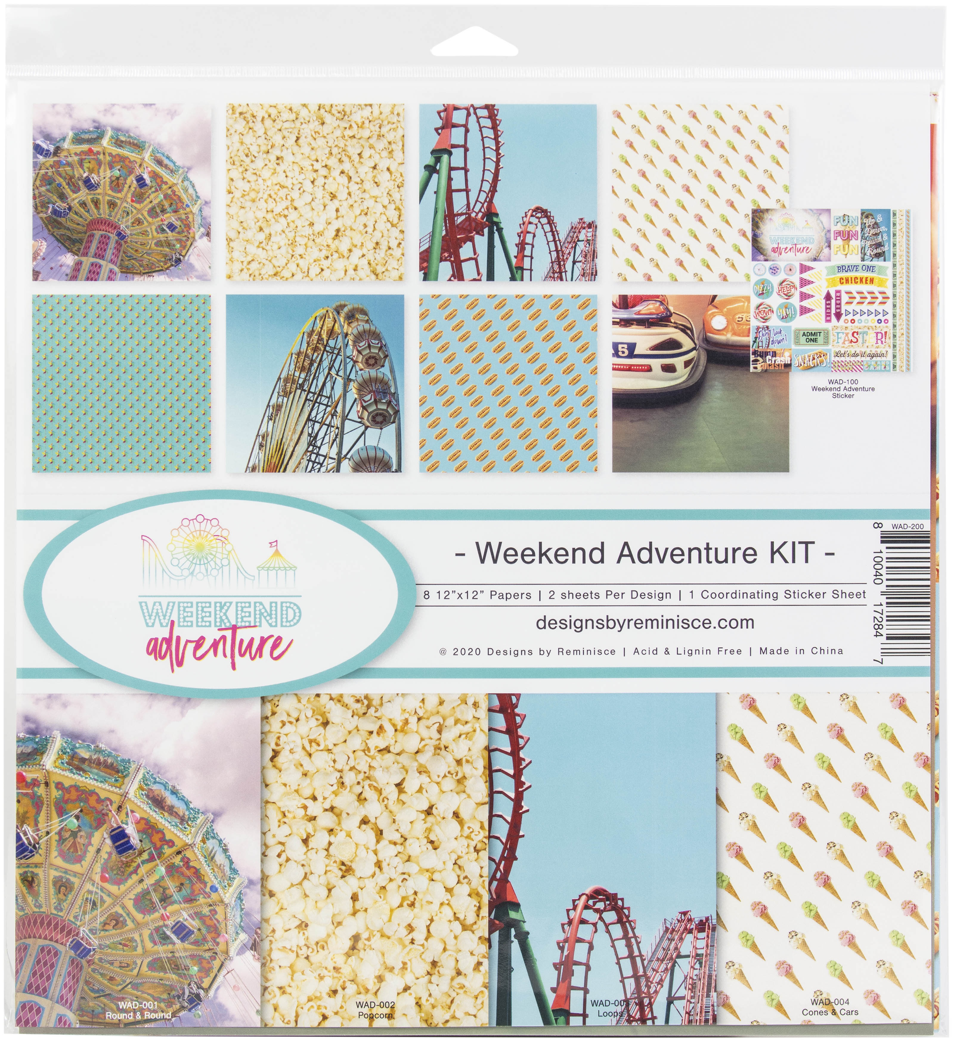 Reminisce  - 12x12 Collection Kit - Weekend Adventure