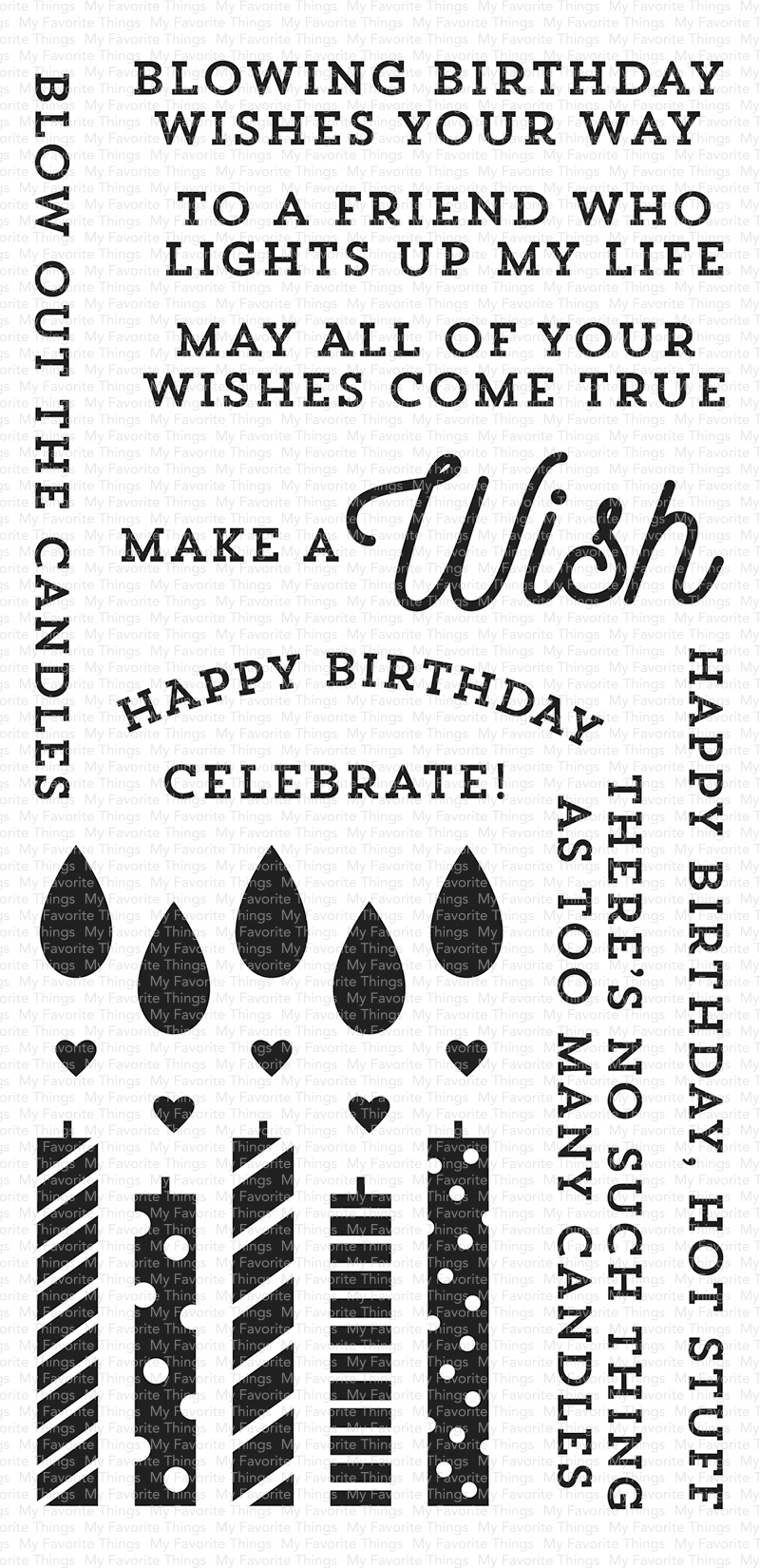 My Favorite Things Clearly Sentimental Stamps 4X8-Make A Wish