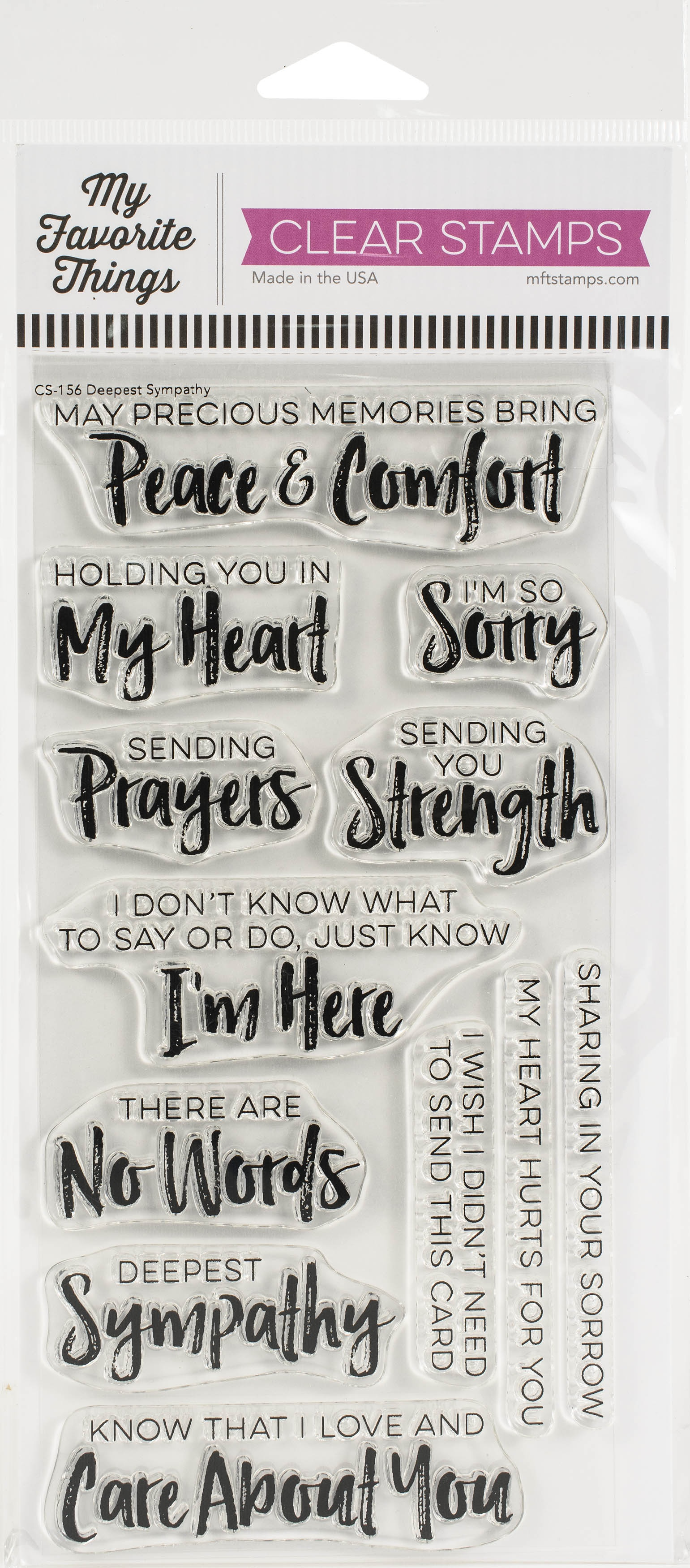 My Favorite Things Clearly Sentimental Stamps 4X8-Deepest Sympathy
