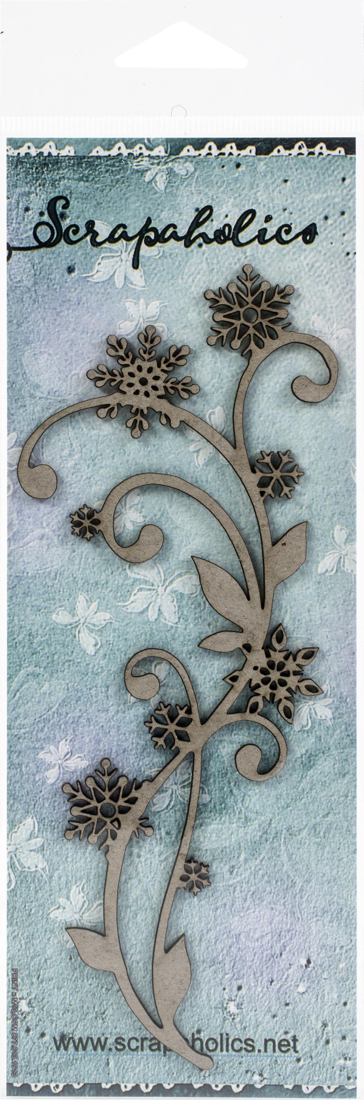 Scrapaholics - Laser Cut Chipboard - Snowflake Flourish