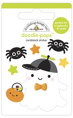 Doodlebug Doodle-Pops 3D Stickers-Little Boo