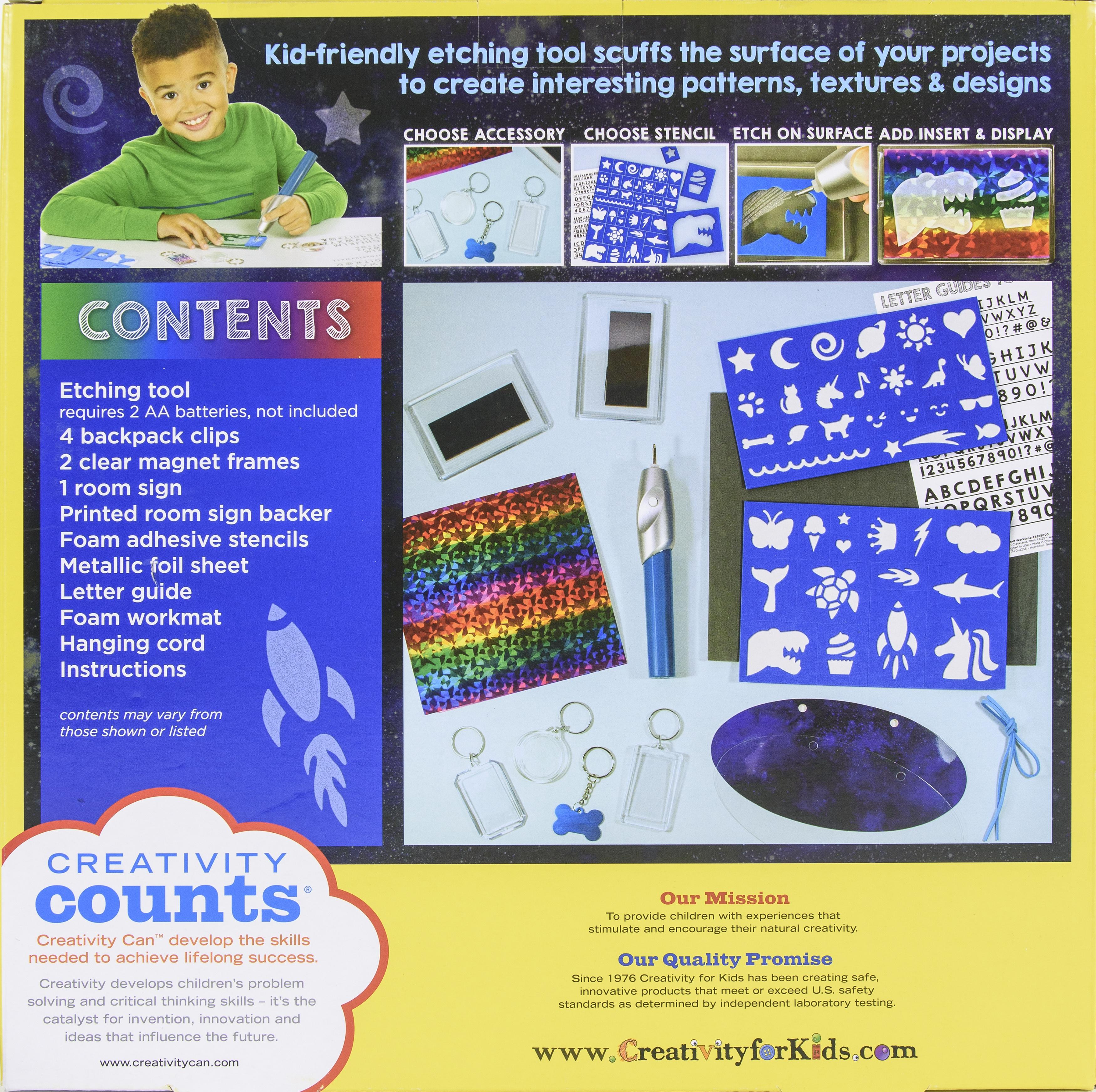 Creativity For Kids Etch-It Workshop-