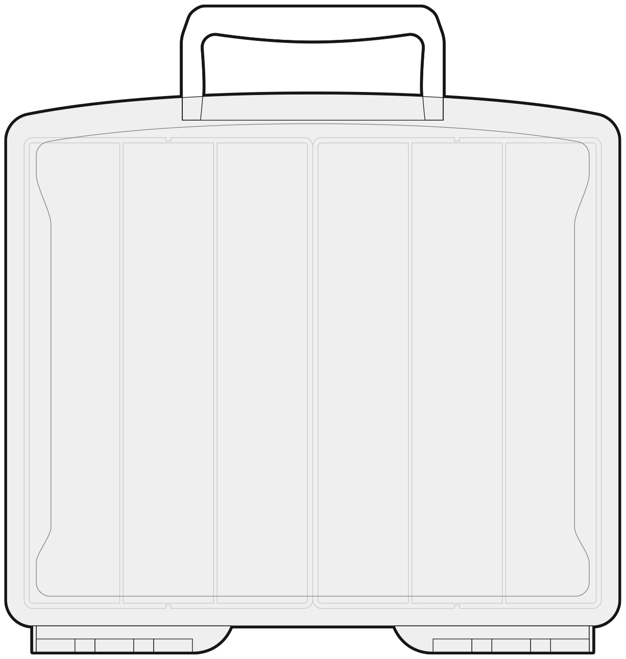 We R Washi Translucent Plastic Storage Bin-14X13X4.375 Case