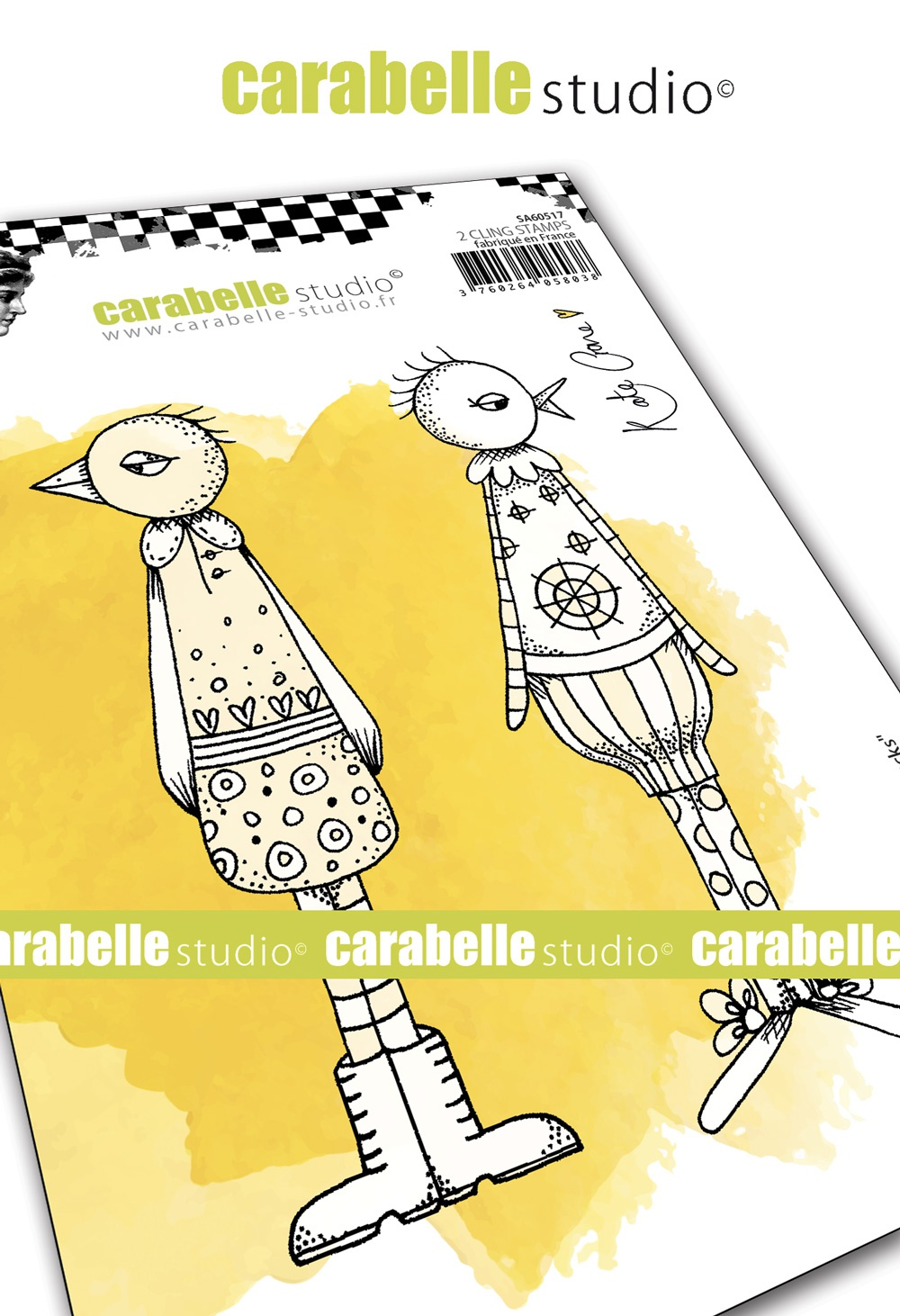 Carabelle Studio Cling Stamp A6 By Kate Crane-Funky Ducks