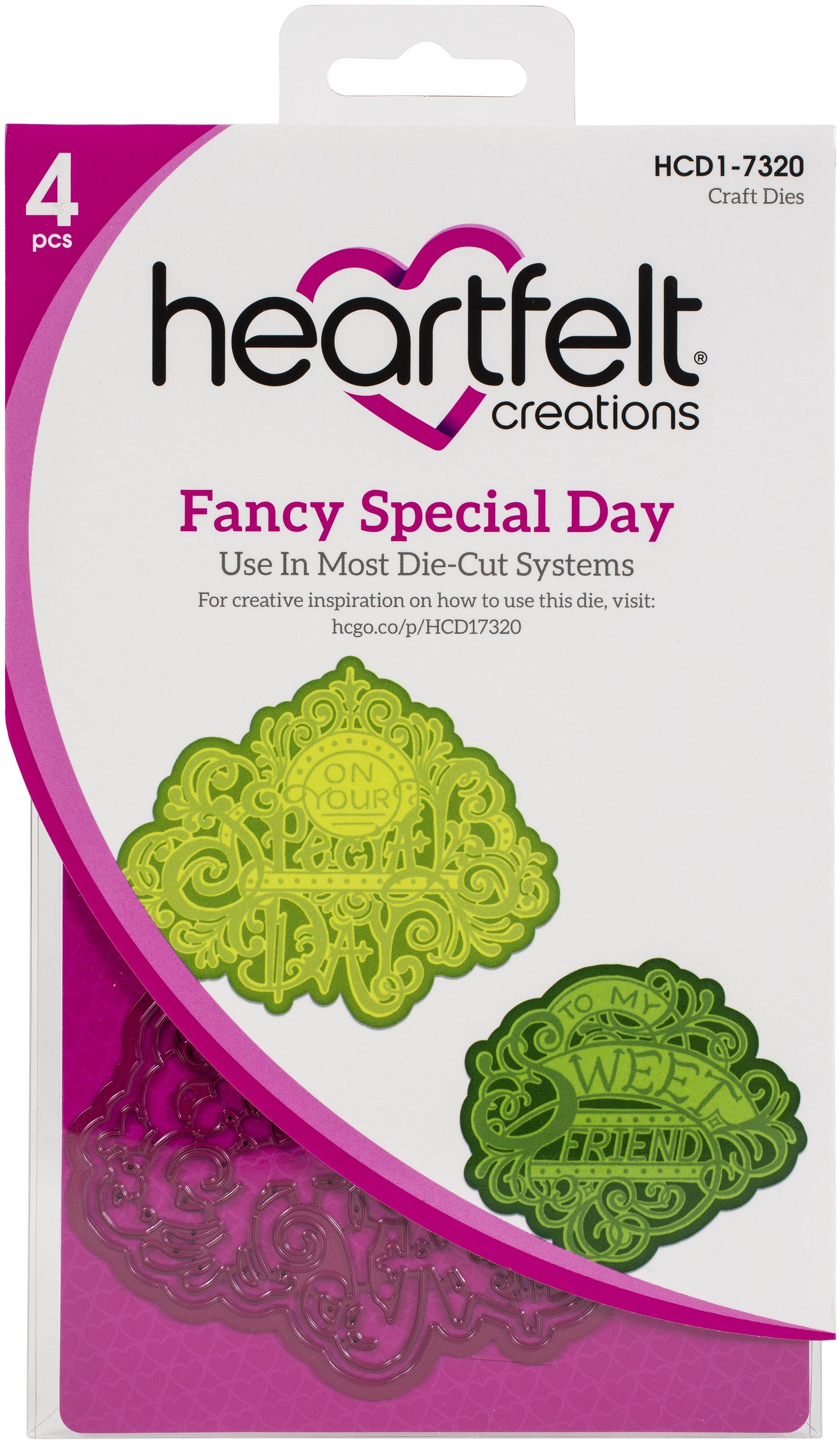 Heartfelt Creations Cut & Emboss Dies-Fancy Special Day