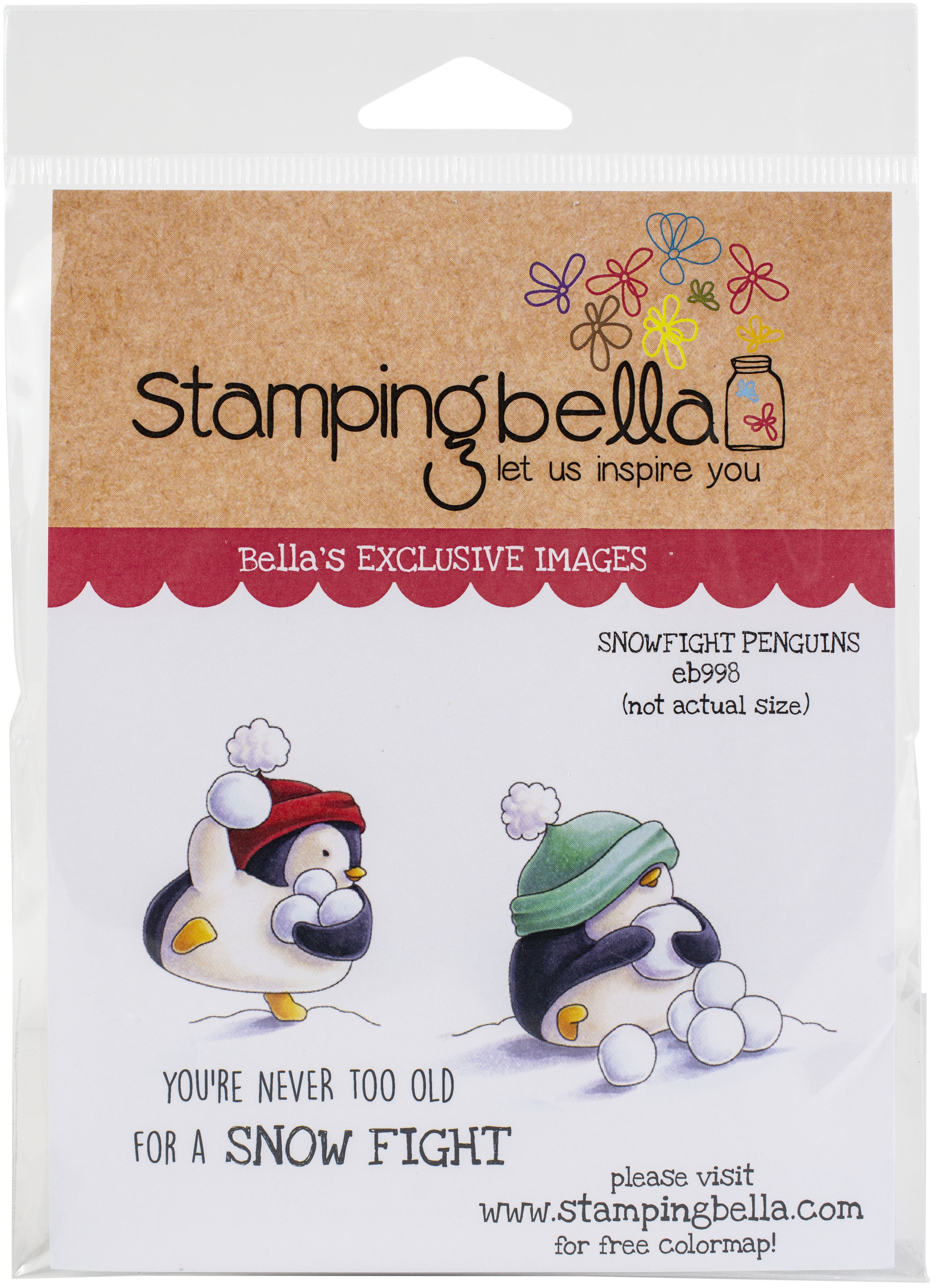 Stamping Bella Cling Stamps - Snowfight Penguins