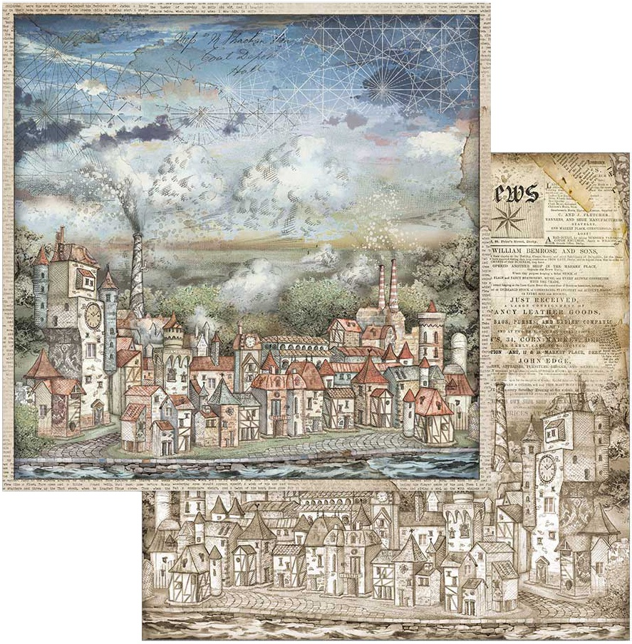 Stamperia Double-Sided Cardstock 12X12-Cityscapes, Sir Vagabond