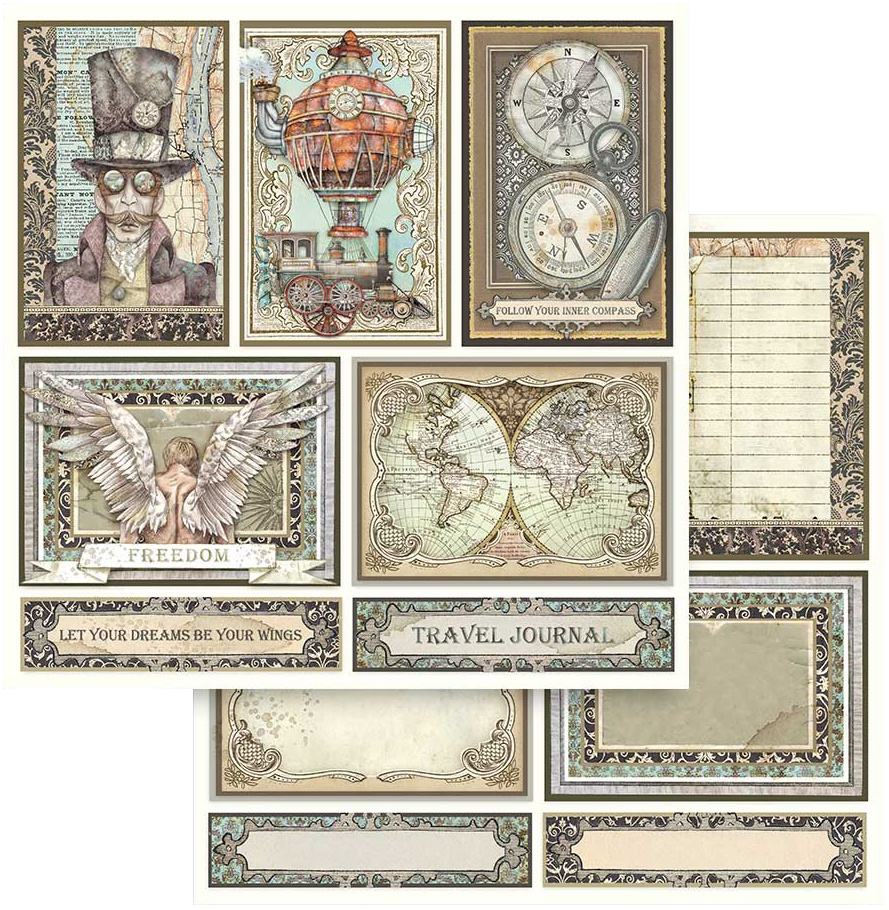 Stamperia Double-Sided Cardstock 12X12-Cards, Sir Vagabond