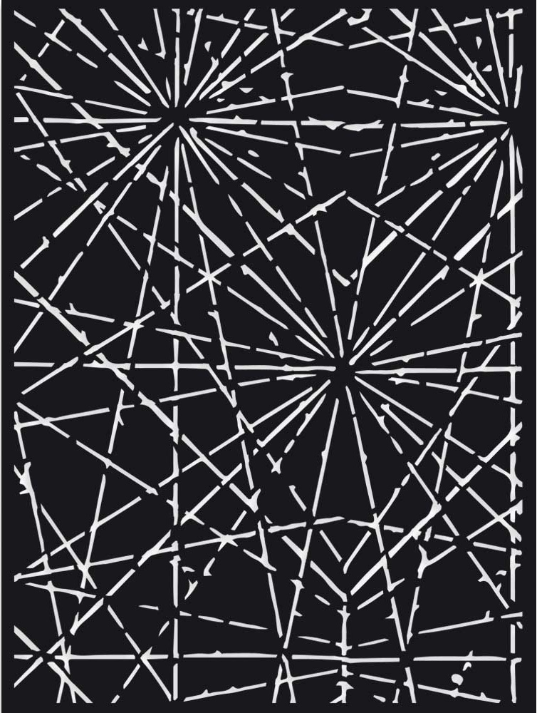 Stamperia Stencil 5.90X7.87-Cracks, Sir Vagabond