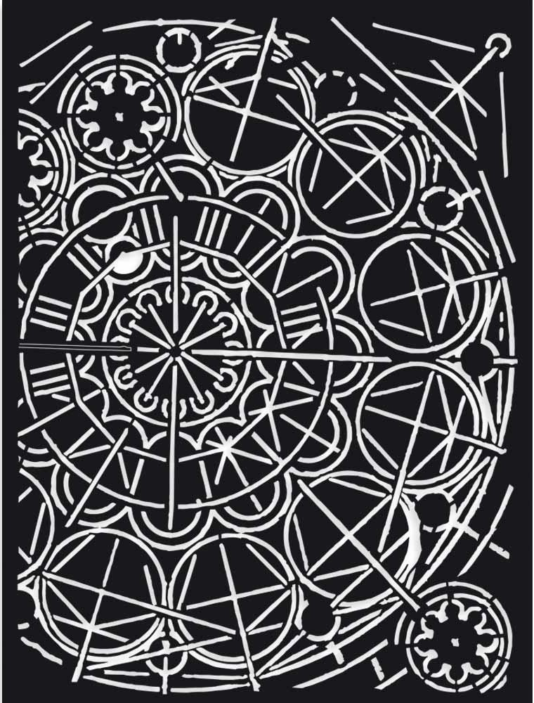 Stamperia Stencil 5.90X7.87-Geometry, Sir Vagabond