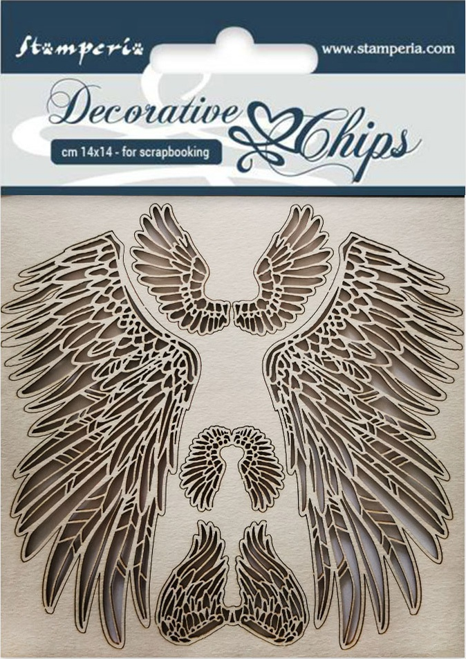 Stamperia Decorative Chips 5.5X5.5-Wings
