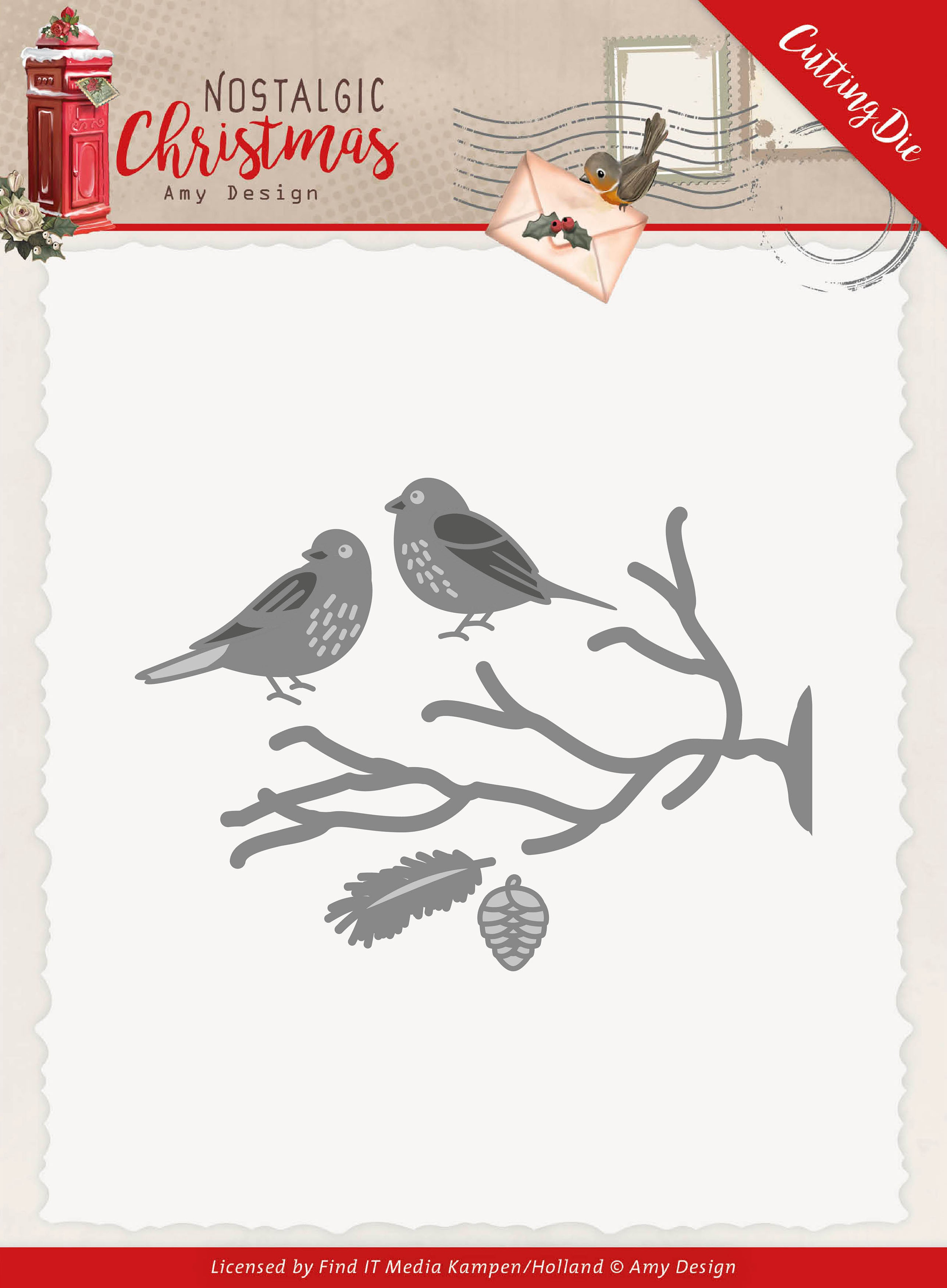 Find It Trading Amy Design Die-Birds, Nostalgic Christmas
