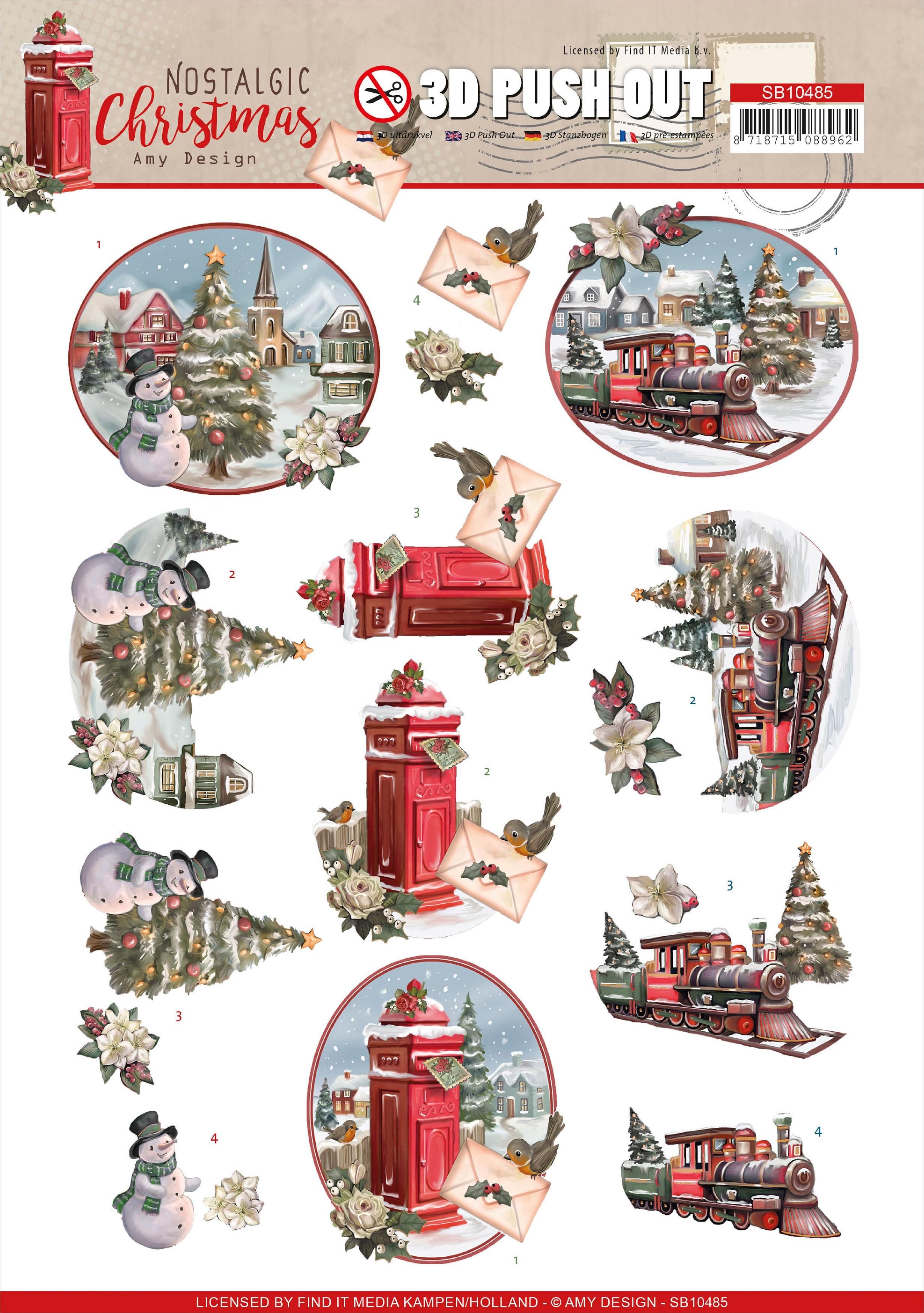 Find It Trading Amy Design - Punchout Sheet - Nostalgic Christmas- Christmas Train