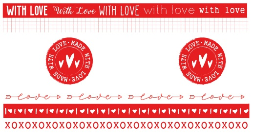 Studio Light-  Filled With Love Washi Tape