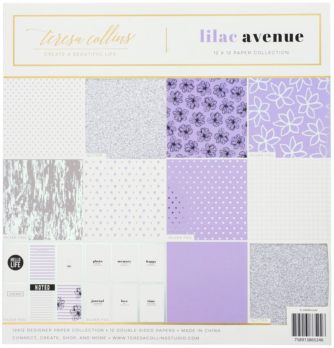 Teresa Collins Paper Collection 12X12-Lilac Avenue