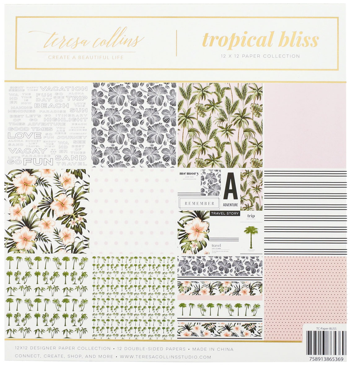Teresa Collins Paper Collection 12X12-Tropical Bliss