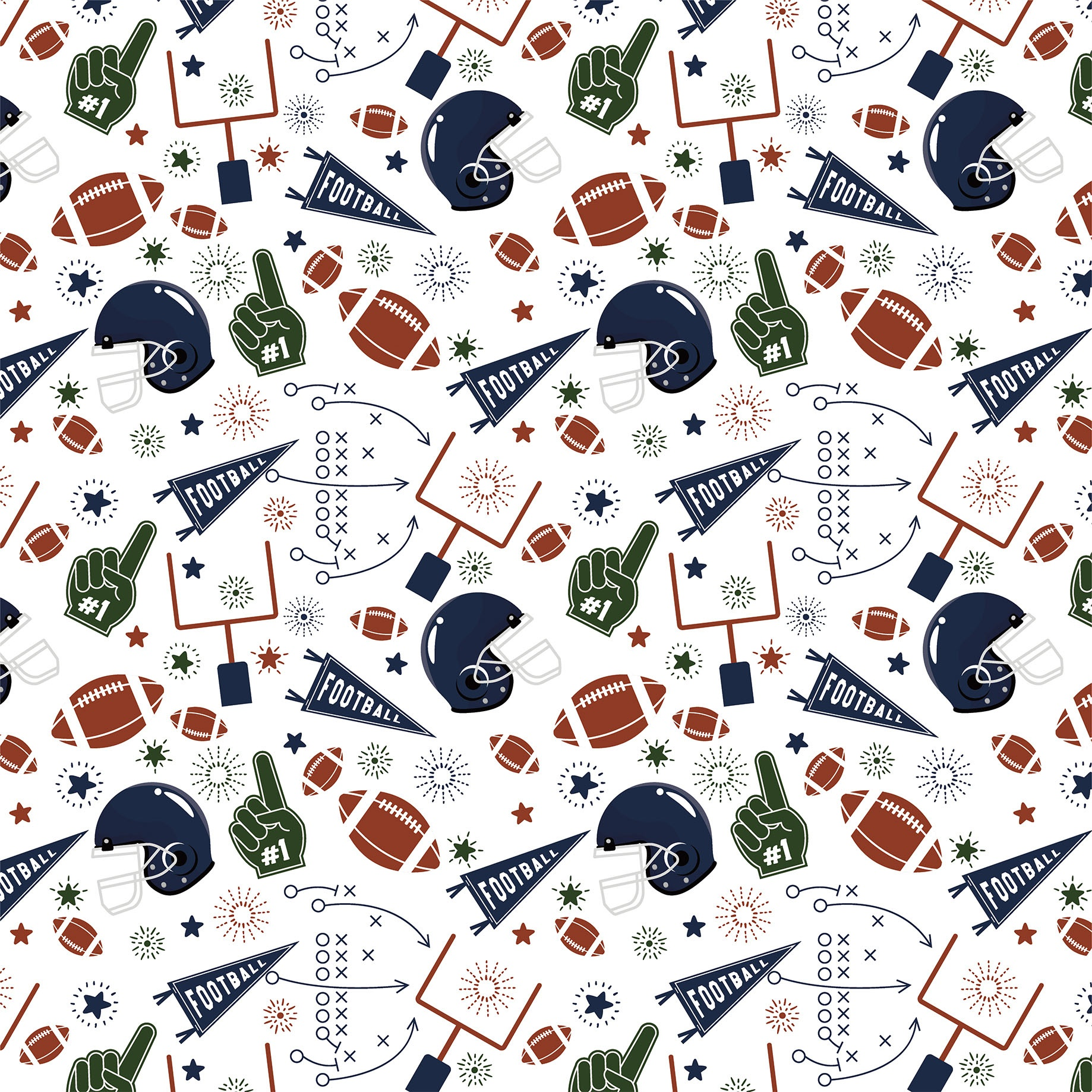 Football Double-Sided Cardstock 12X12-Play Hard, Win Big