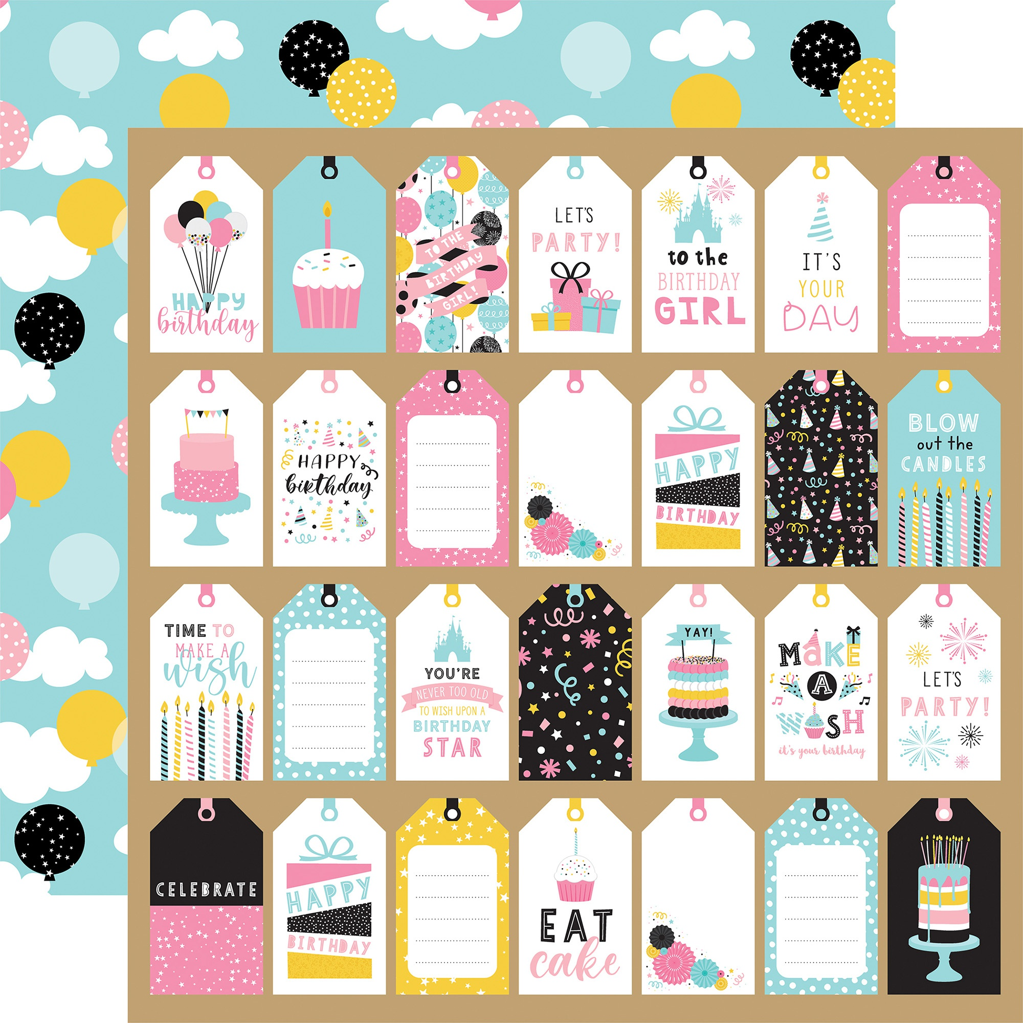 Echo Park - Magical Birthday Girl - Gift Tags