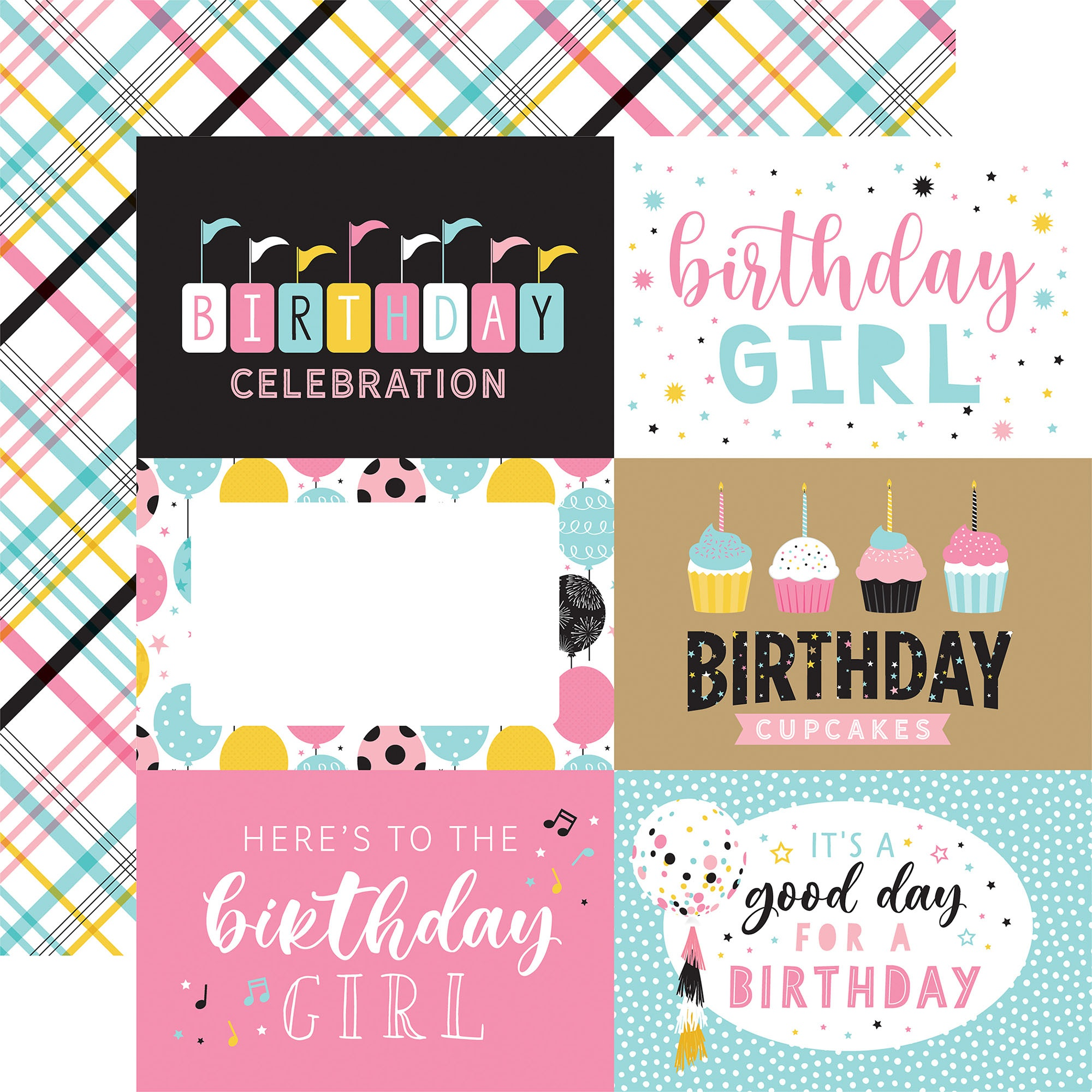 Echo Park - Magical Birthday Girl - 6x4 Journaling Cards