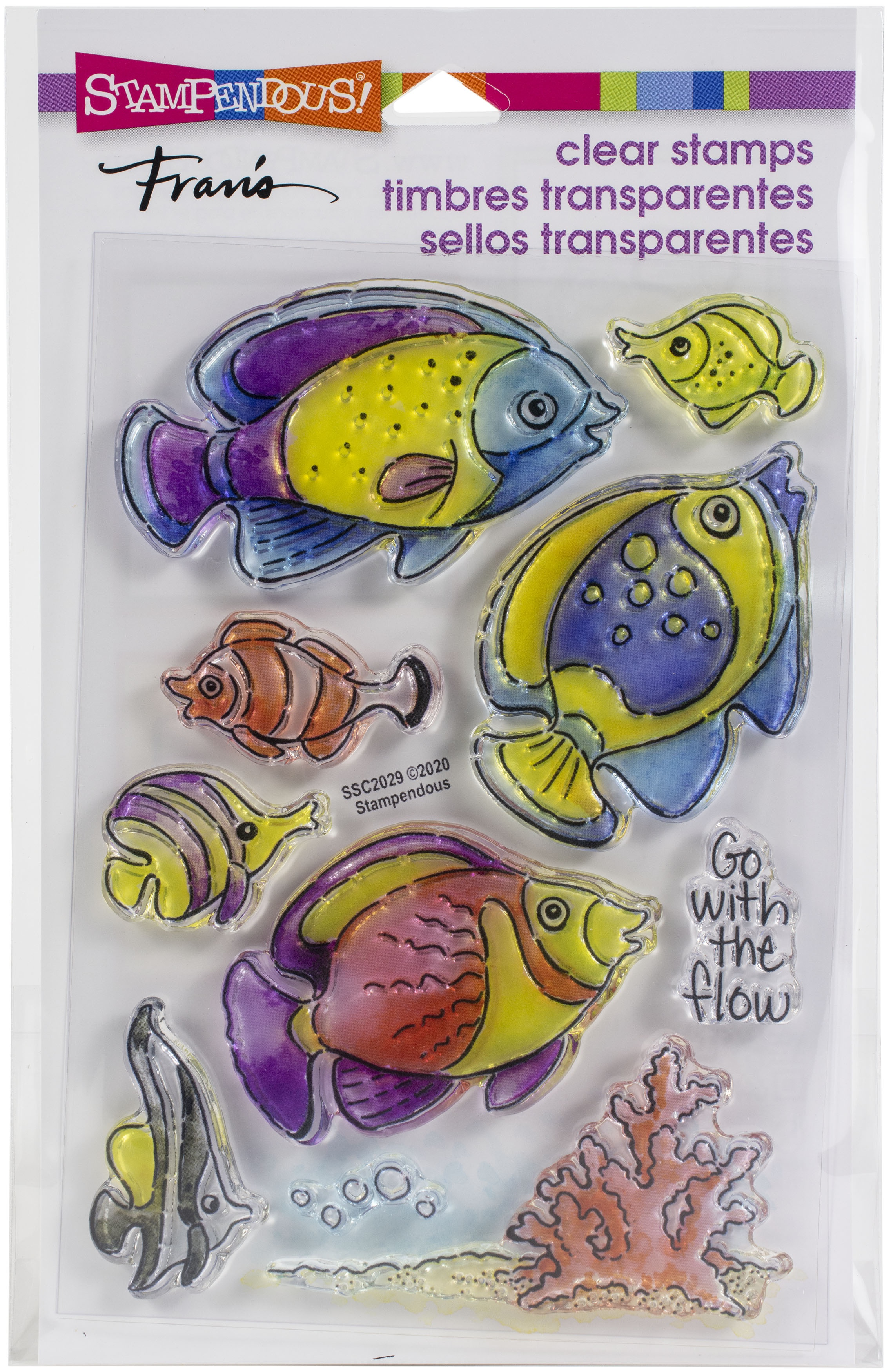 Stampendous Perfectly Clear Stamps-Go Fish