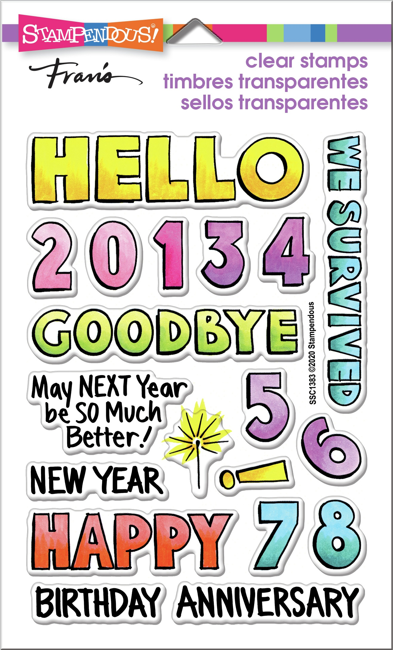 ^Stampendous - Clear Stamps - Hello 2021