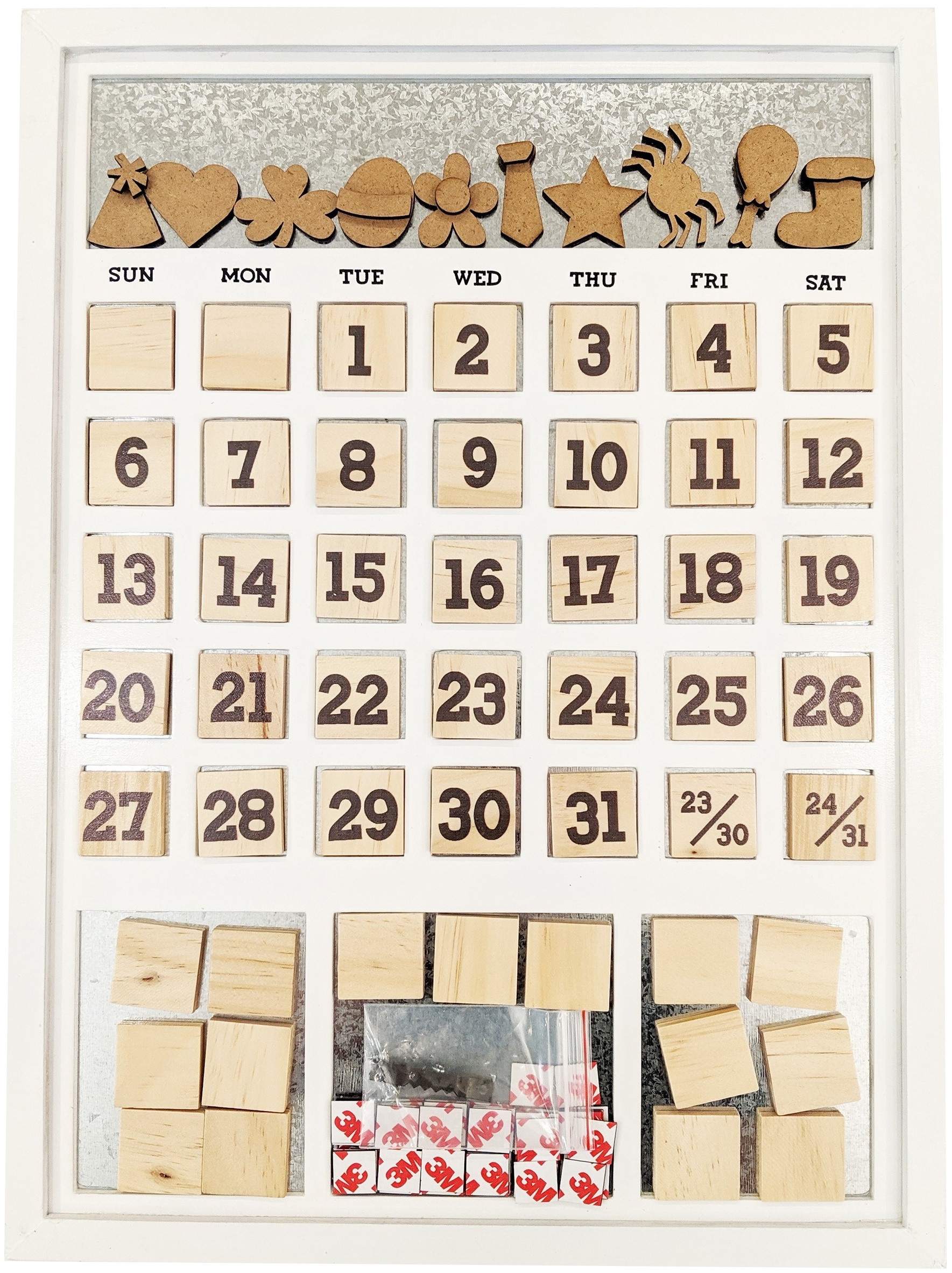 Magnetic Calendar White