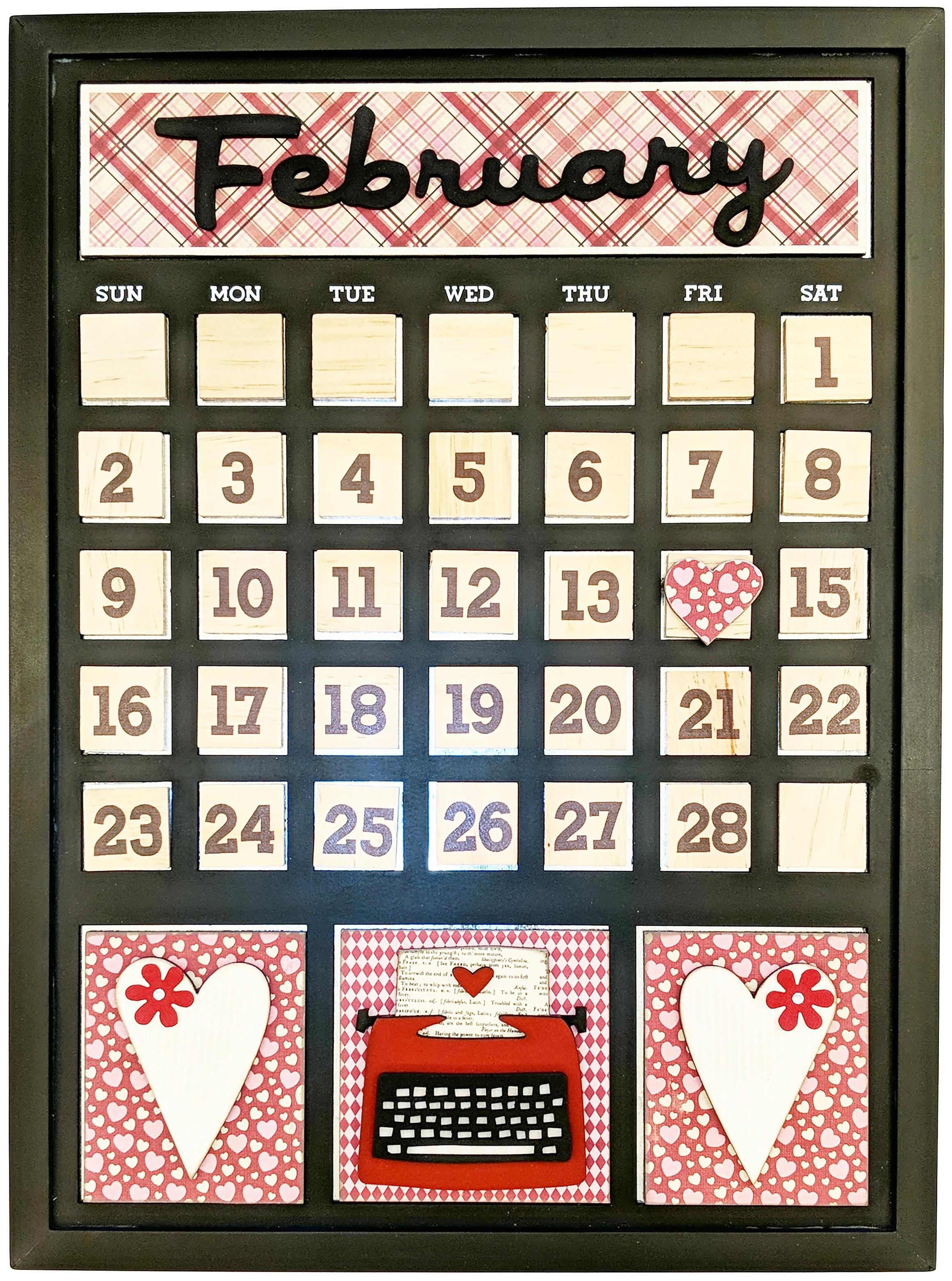 Magnetic Calendar-February
