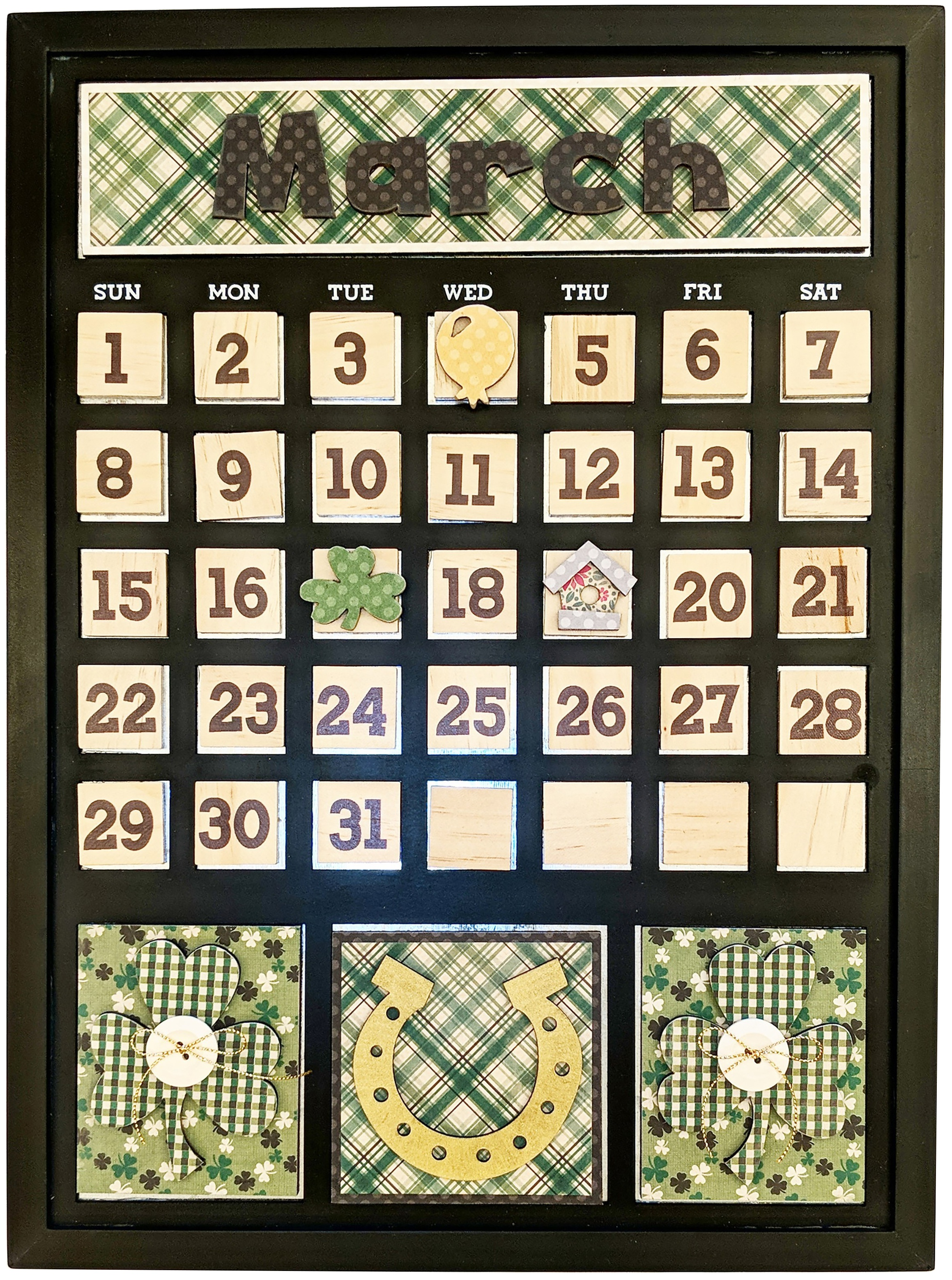 Magnetic Calendar-March
