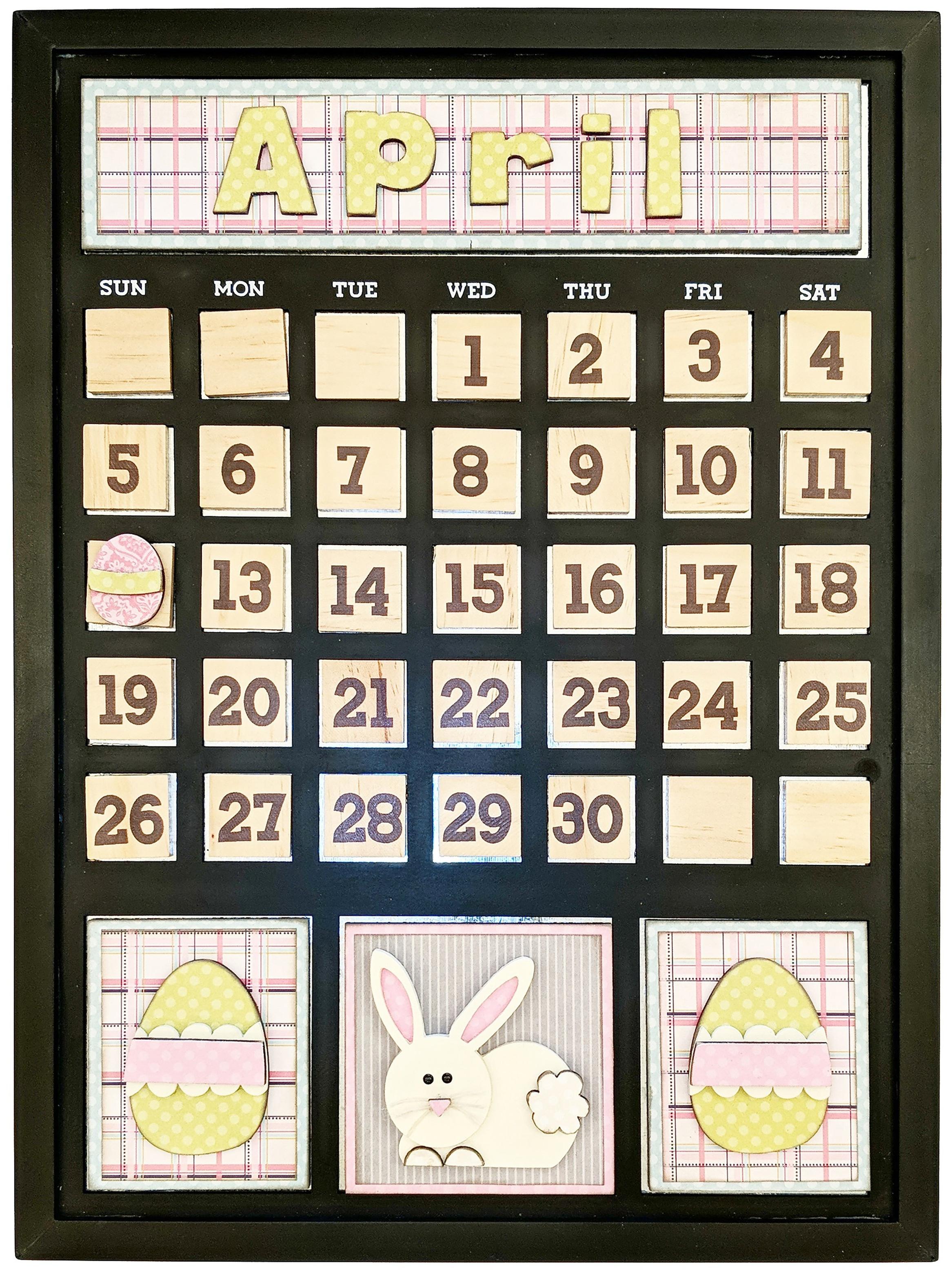 Magnetic Calendar-April
