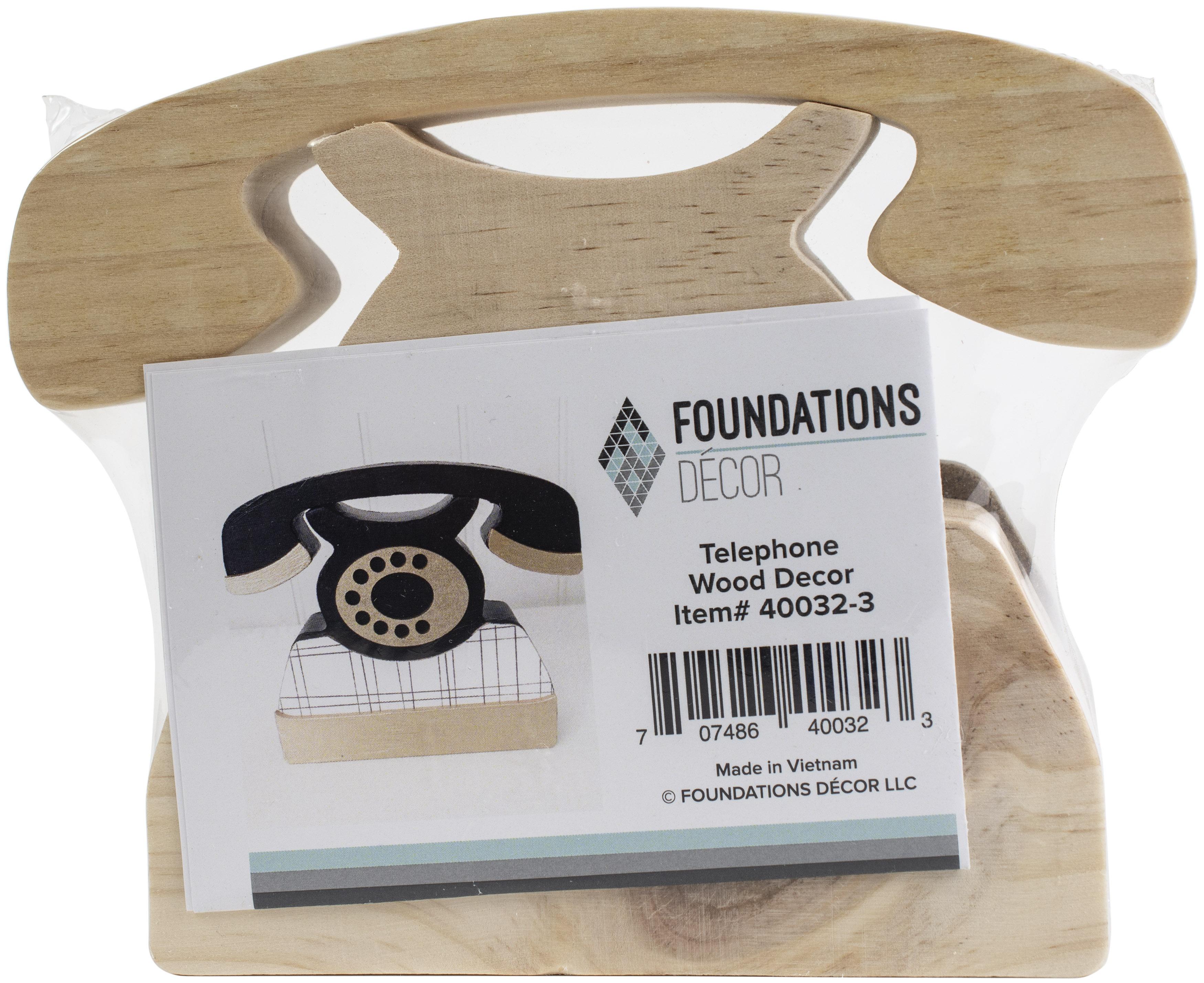 Foundations Decor Interchangeable O Wood Shape-Telephone