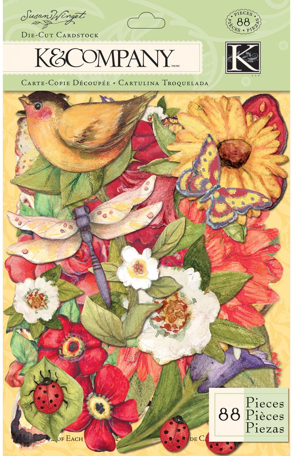 Susan Winget Die Cut Cardstock 88/Pkg-Meadow