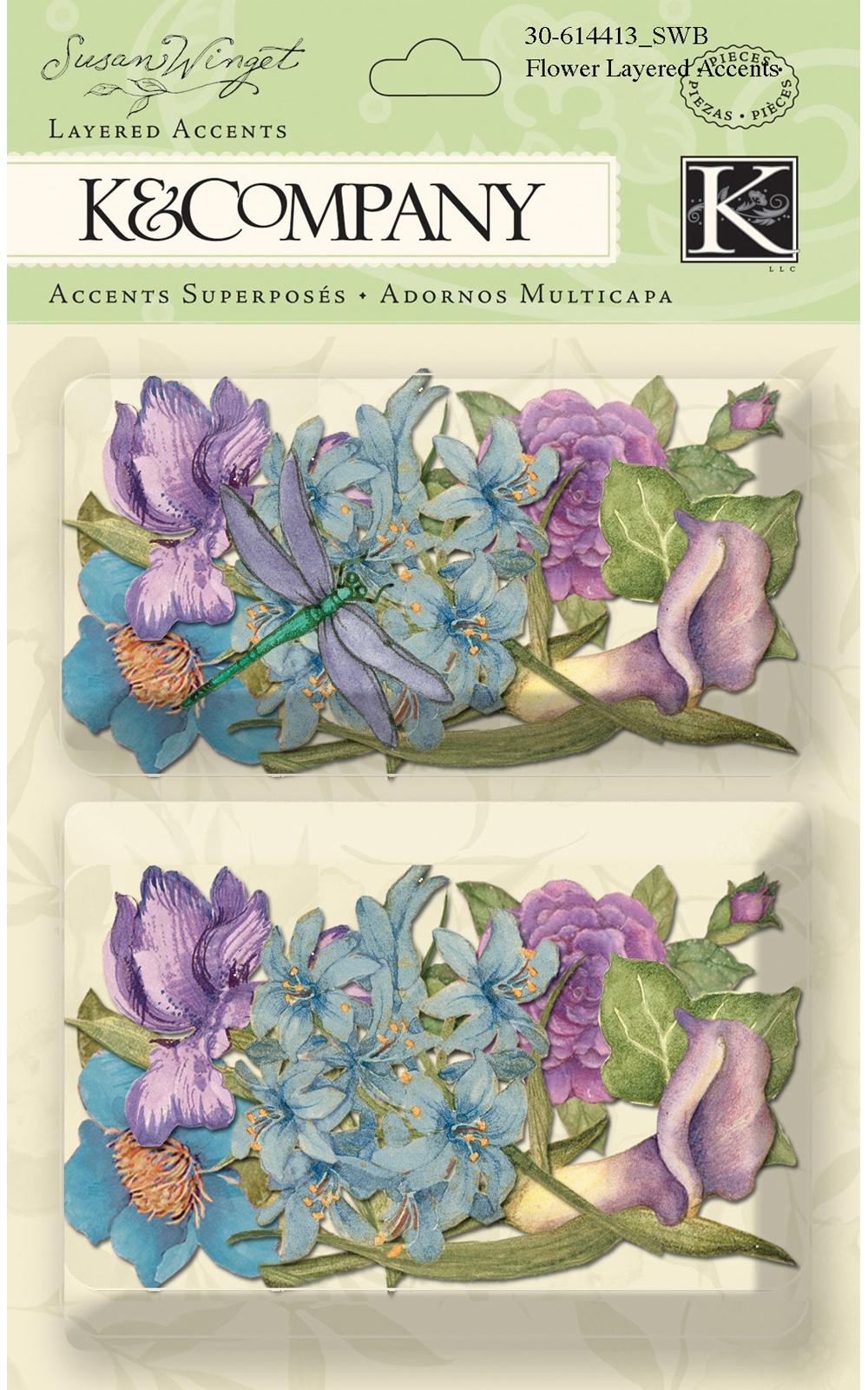 Susan Winget Layered Accents 2/Pkg-Flower
