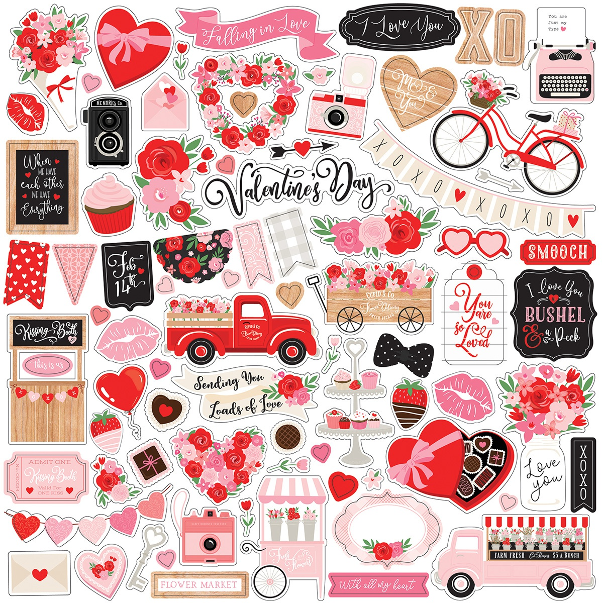 Cupid & Co Element Stickers 12 x 12