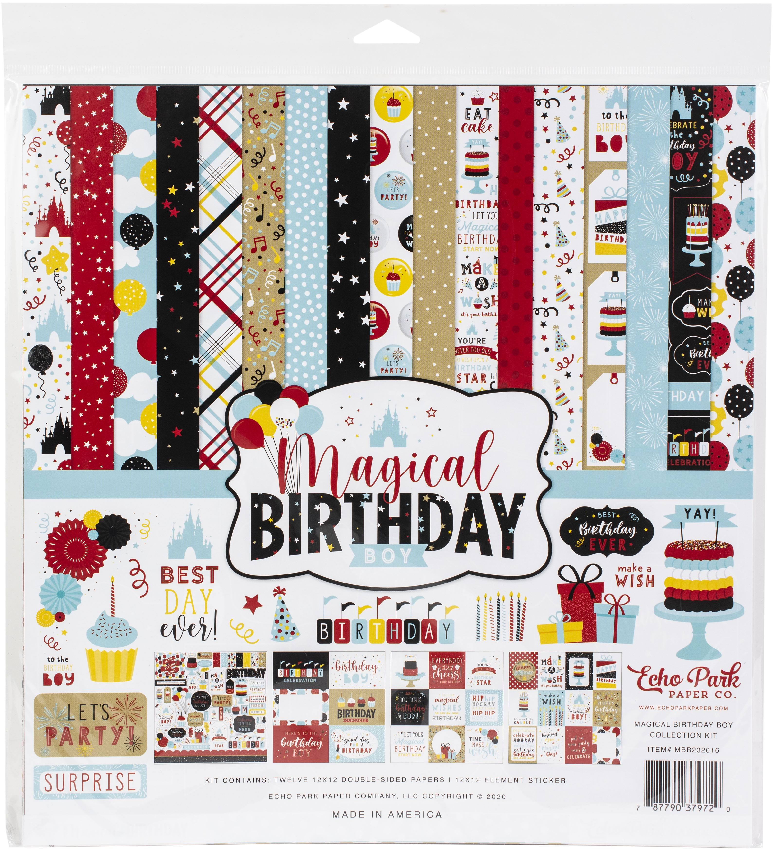 Echo Park Collection Kit 12X12-Magical Birthday Boy