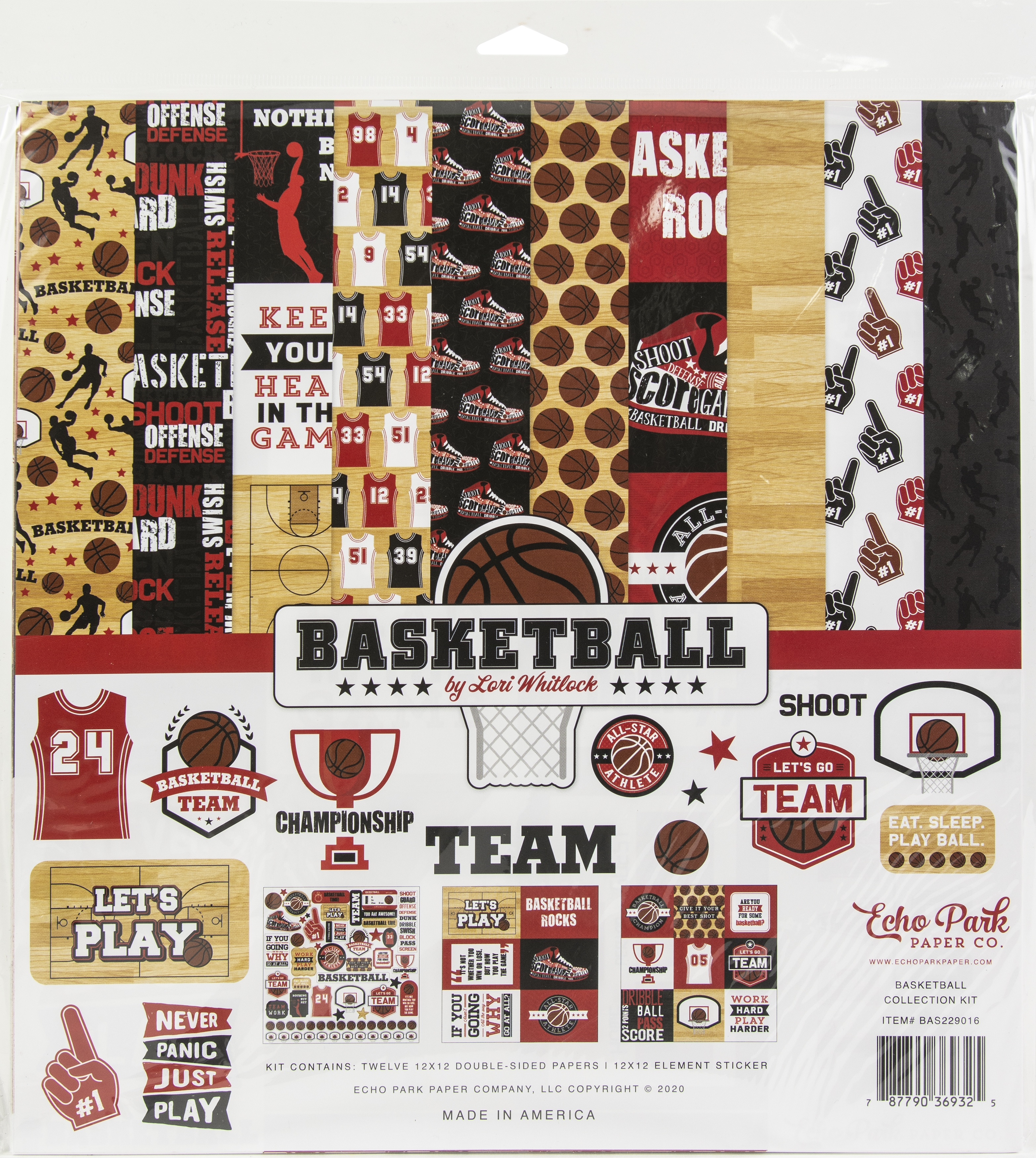 Echo Park Collection Kit 12X12-Basketball