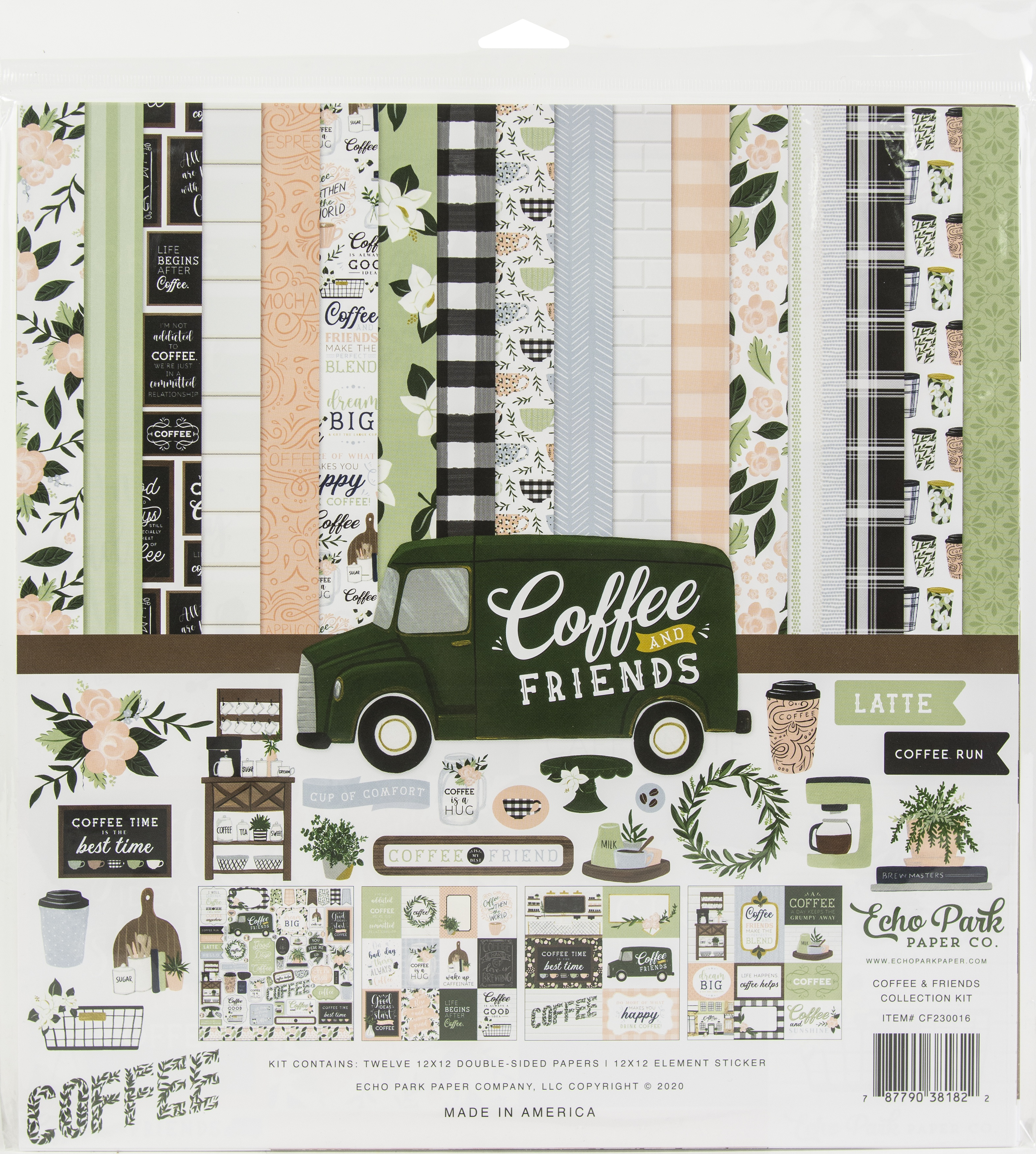 Echo Park Collection Kit 12X12-Coffee & Friends