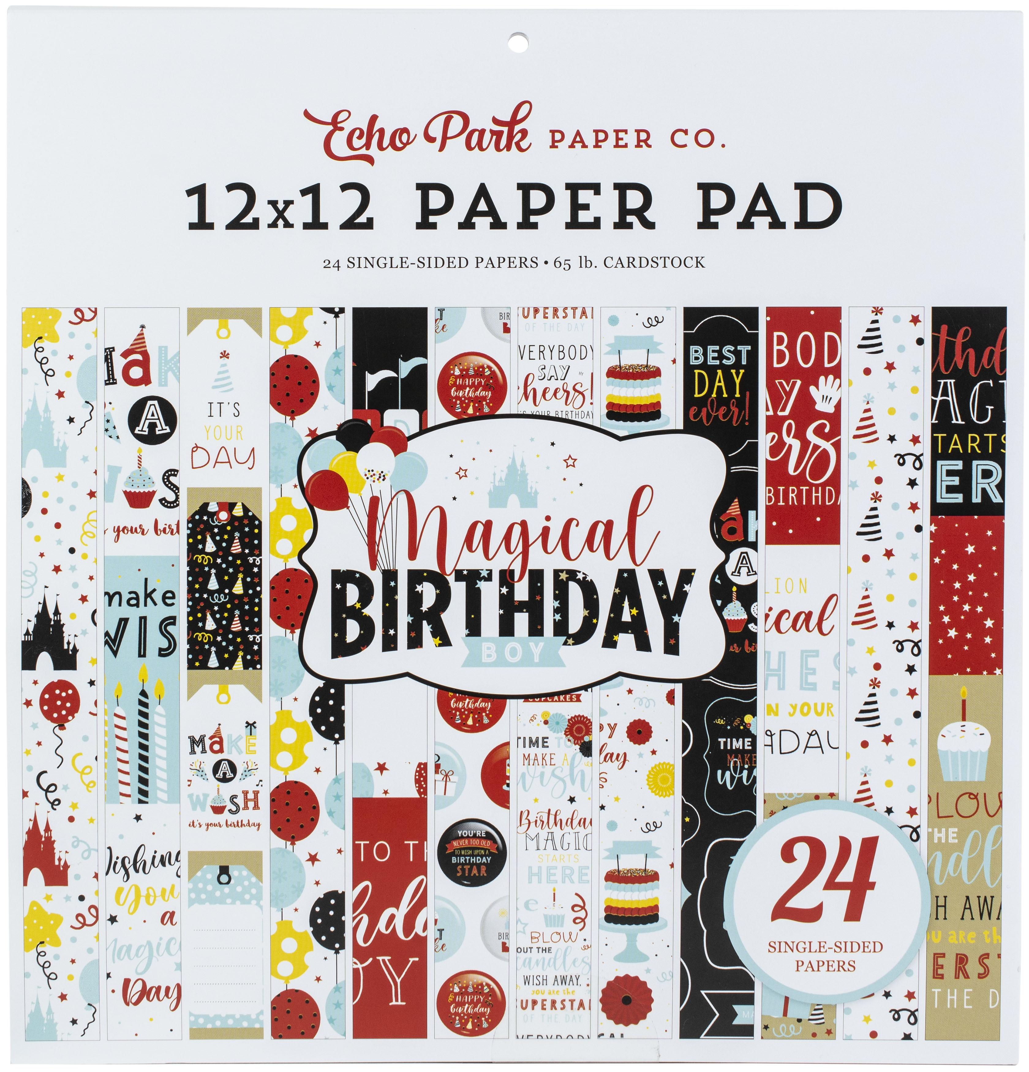 Magical Birthday Boy Single-Sided Paper Pad 24/Pkg