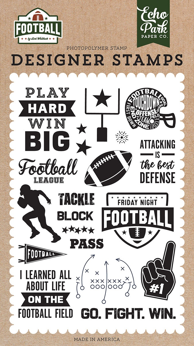 Echo Park Stamps-Tackle, Football
