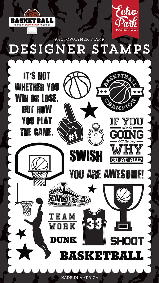 Echo Park Stamps-Swish, Basketball