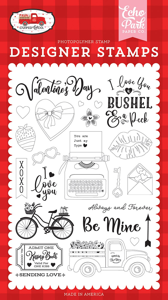 Echo Park - Cupid & Co. - Be Mine Stamp Set