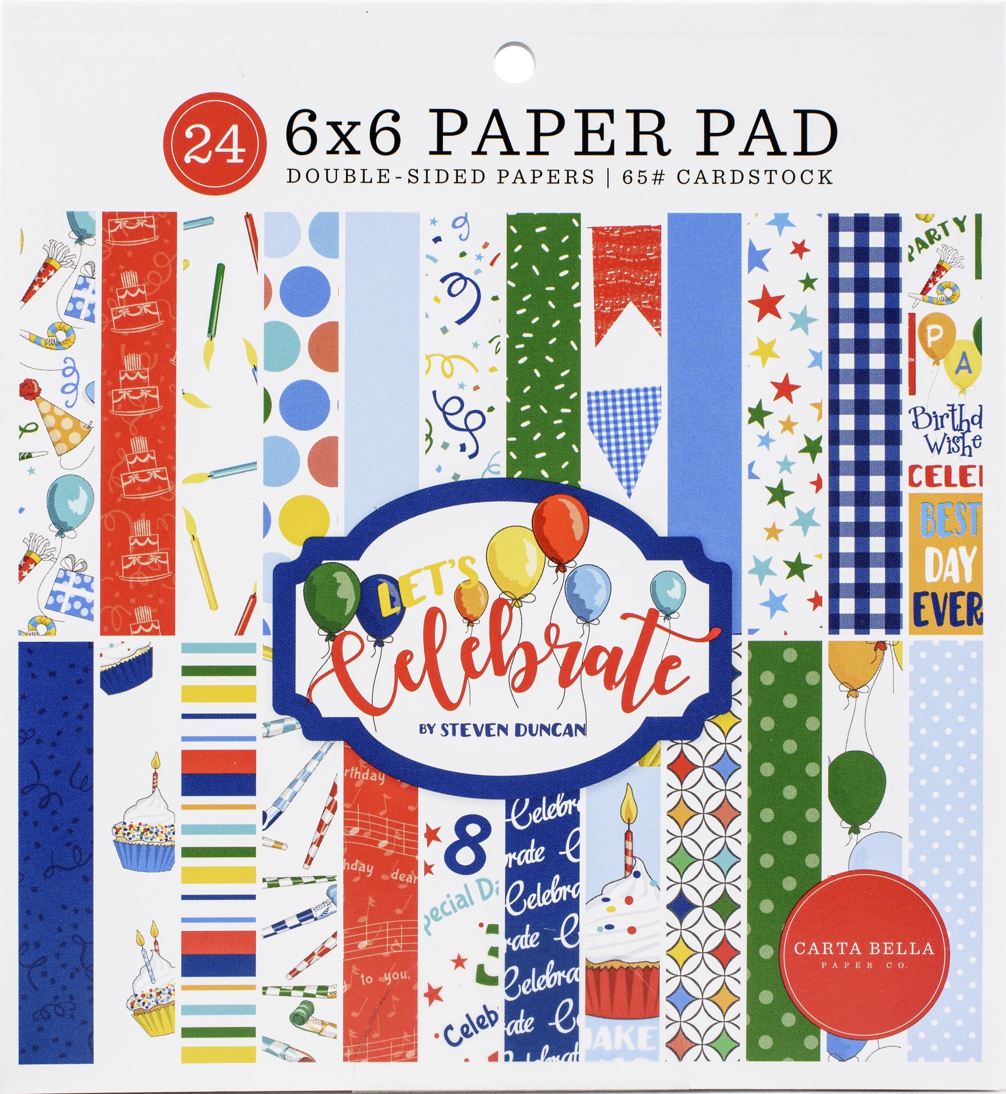 Carta Bella Let's Celebrate Double-Sided Paper Pad 6x6