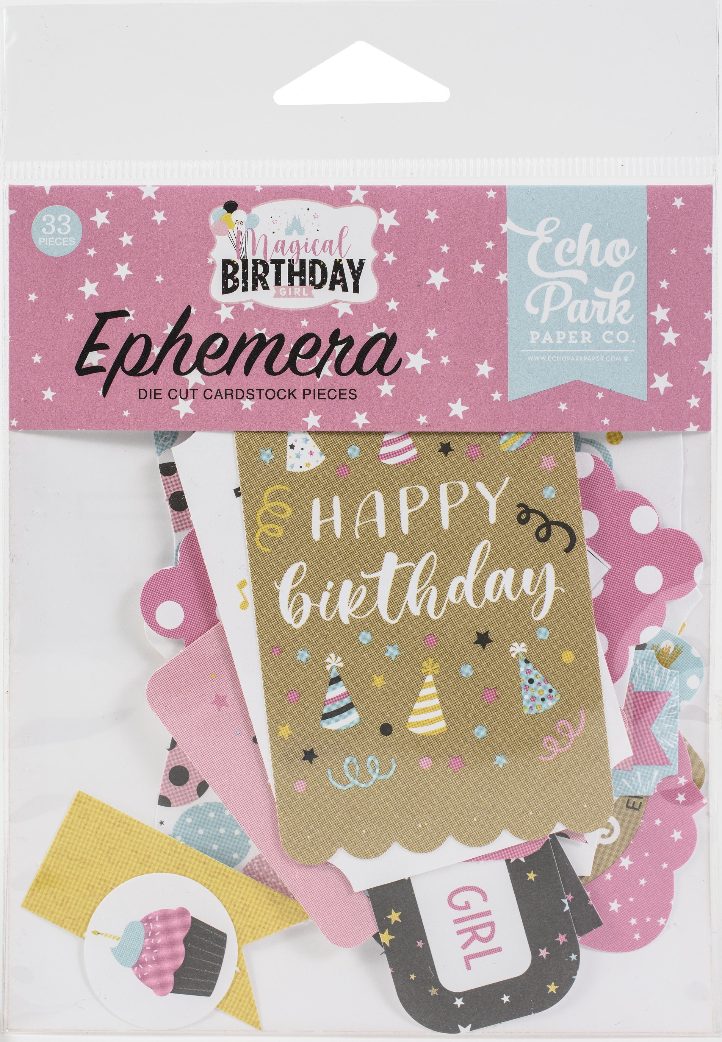 Echo Park Cardstock Ephemera 33/Pkg-Icons, Magical Birthday Girl