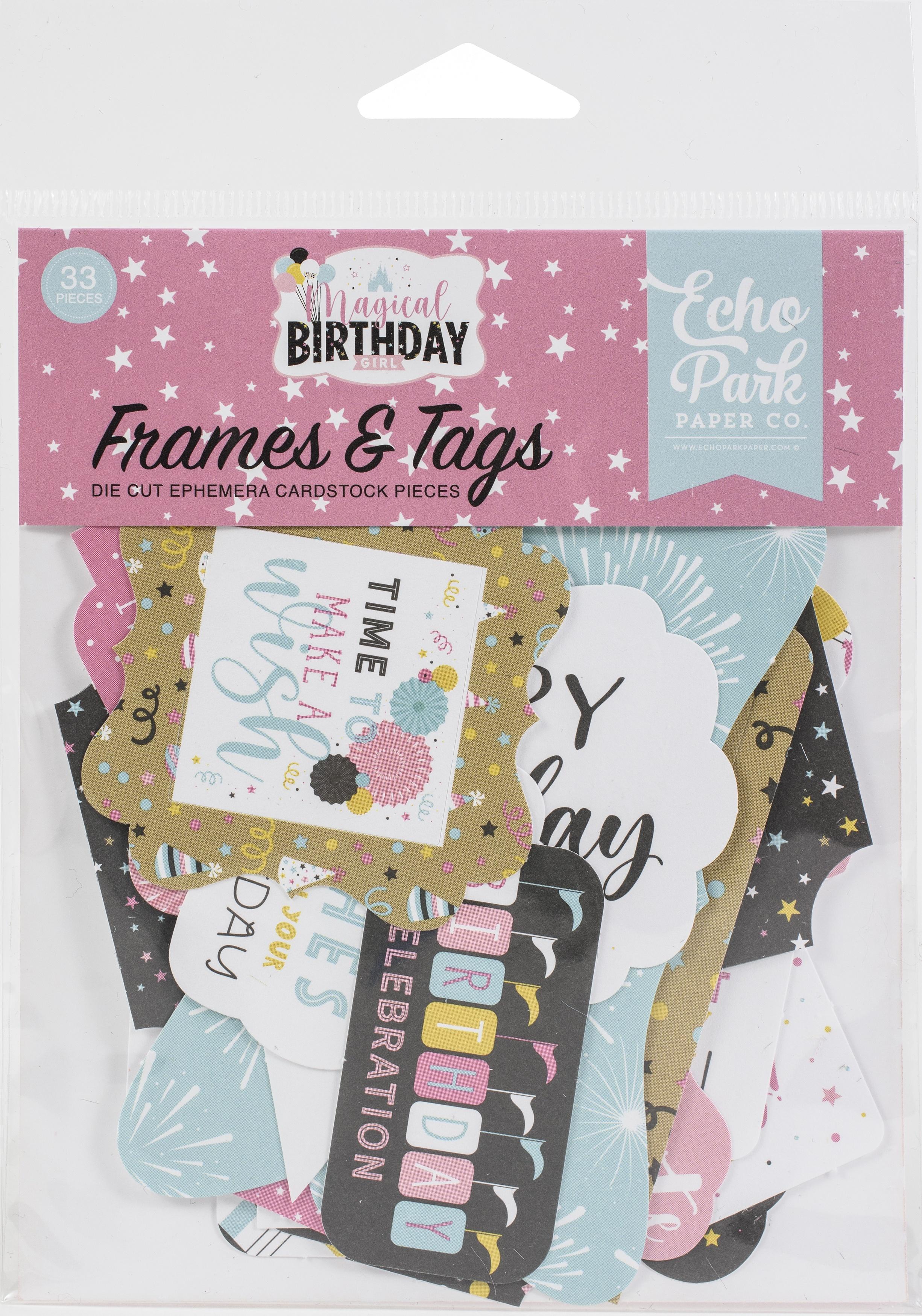 Echo Park - Magical Birthday Girl - Frames & Tags Cardstock Ephemera