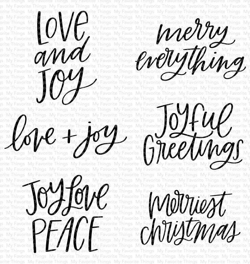 My Favorite Things Clear Stamps 4X4-Mini Merry Messages