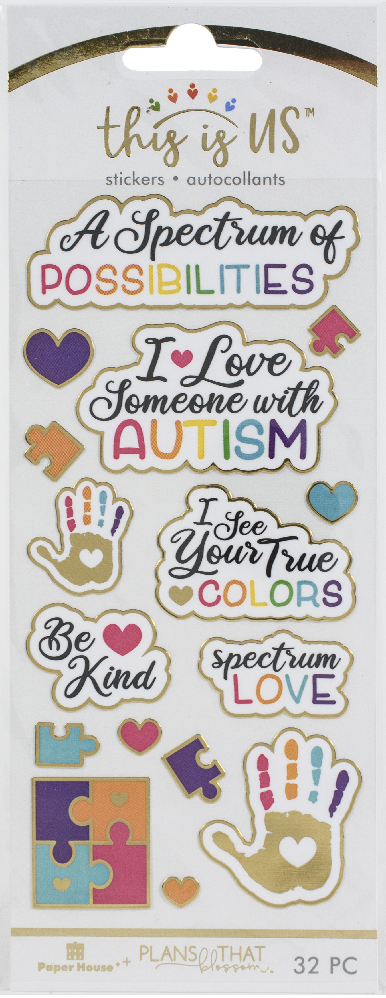 This Is Us Stickers 16/Pkg-Autism