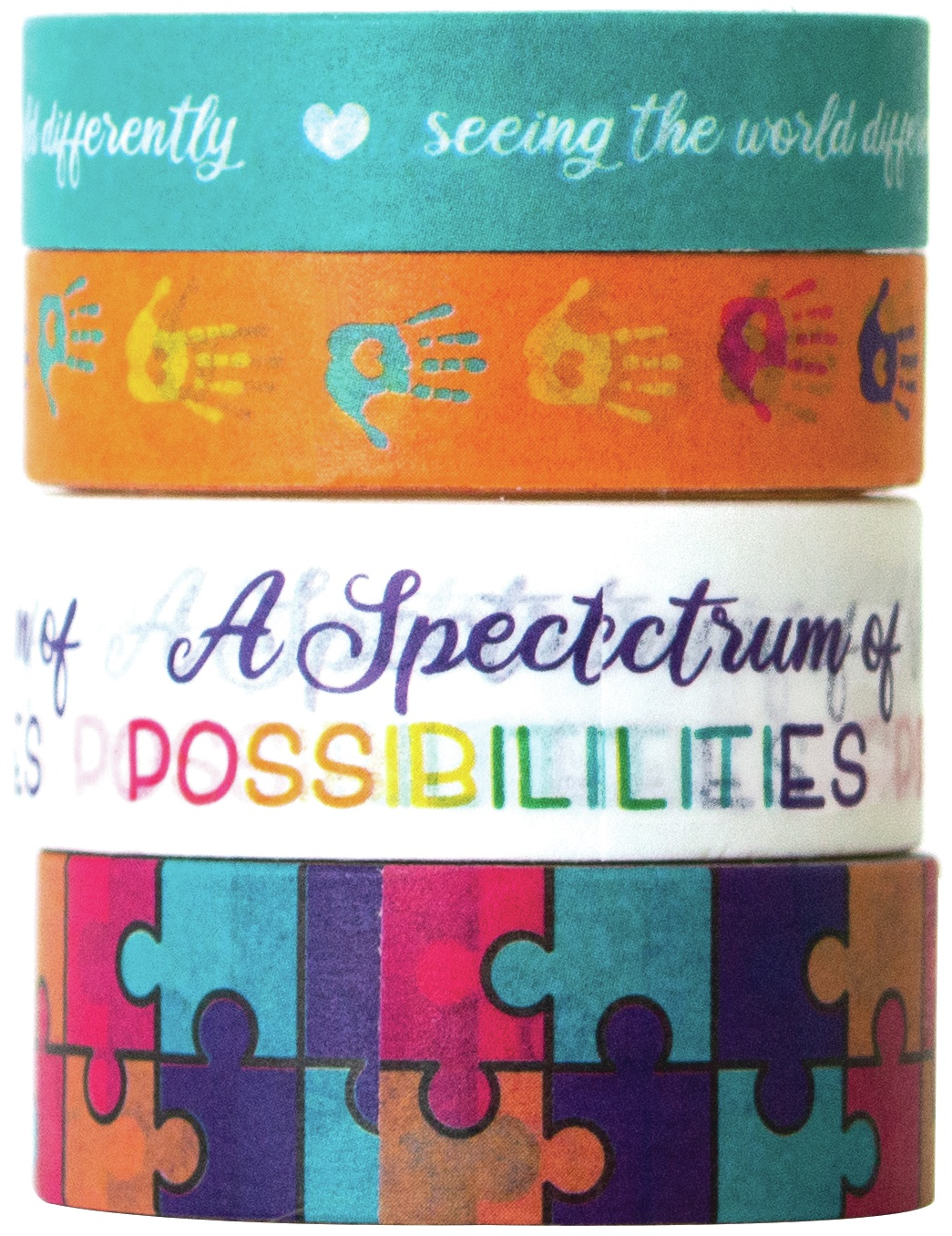 Paper House - This Is Us - Washi Tape - Autism  4/Pkg