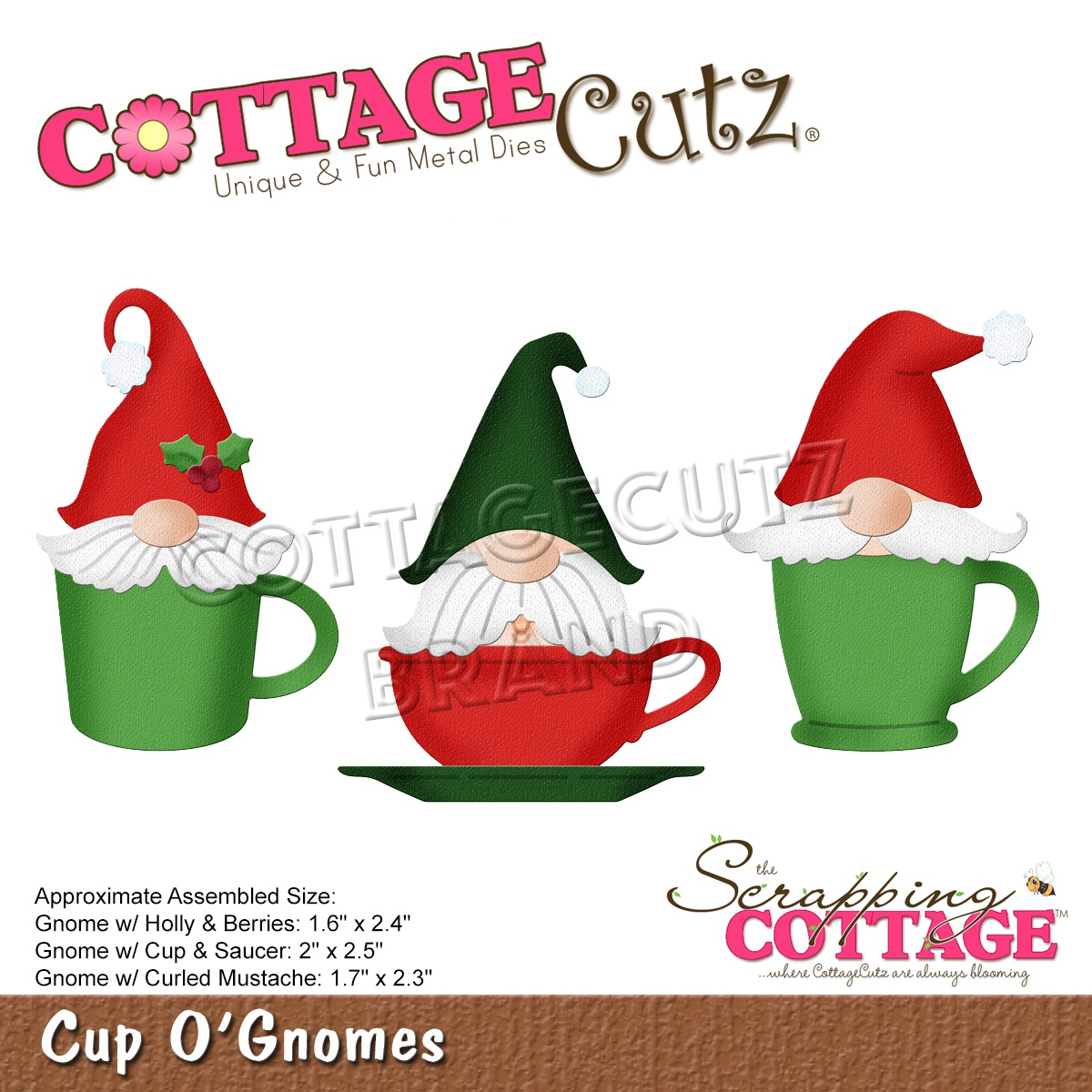Cottage Cutz - Cup O' Gnomes Die Set