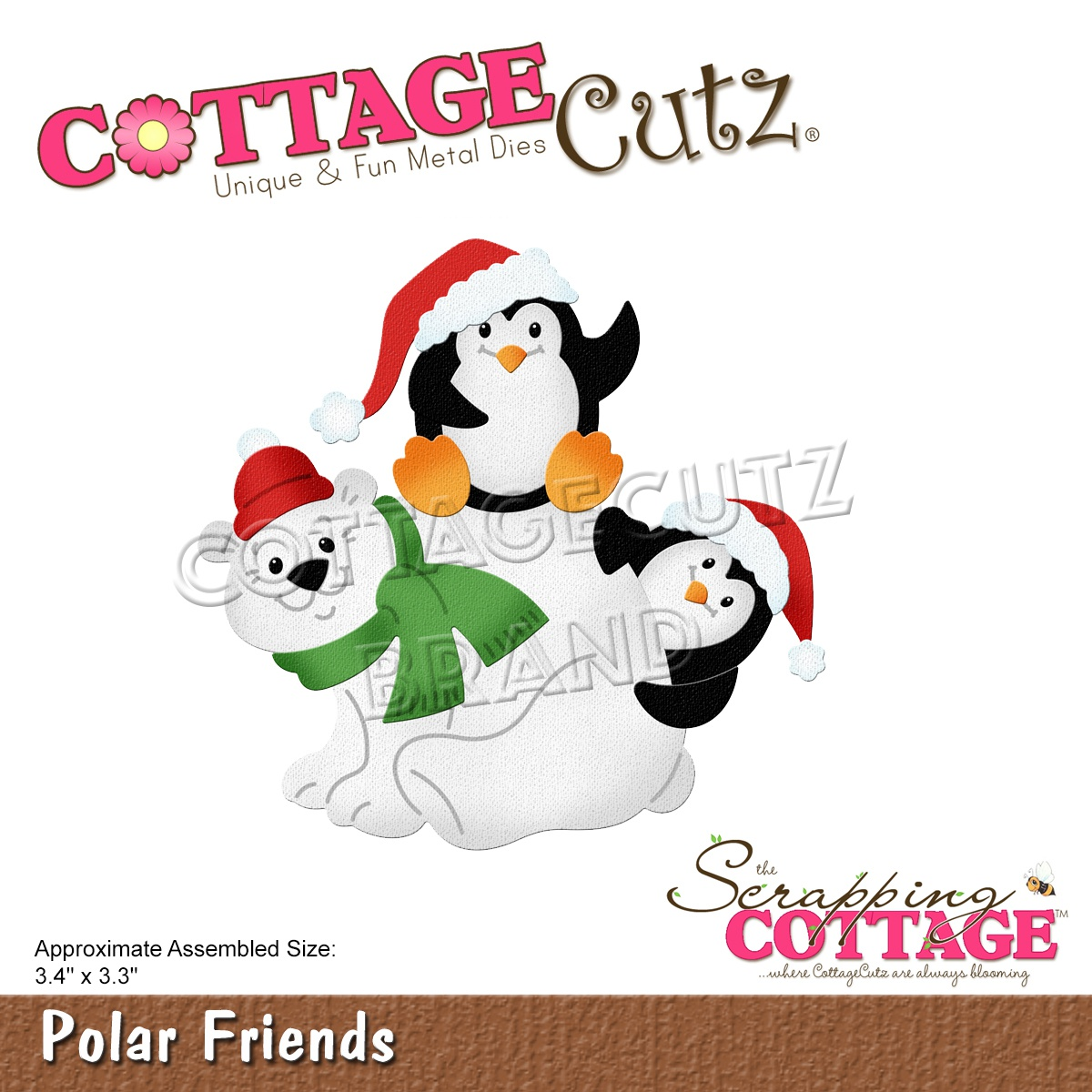 CottageCutz Dies-Polar Friends 3.4X3.3