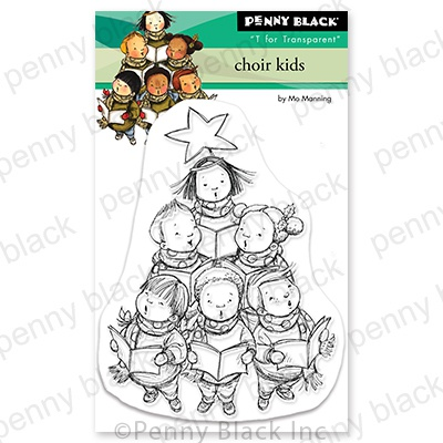 Penny Black Clear Stamps-Choir Kids