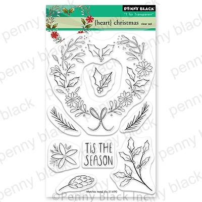 Penny Black - Heart Christmas Stamp Set